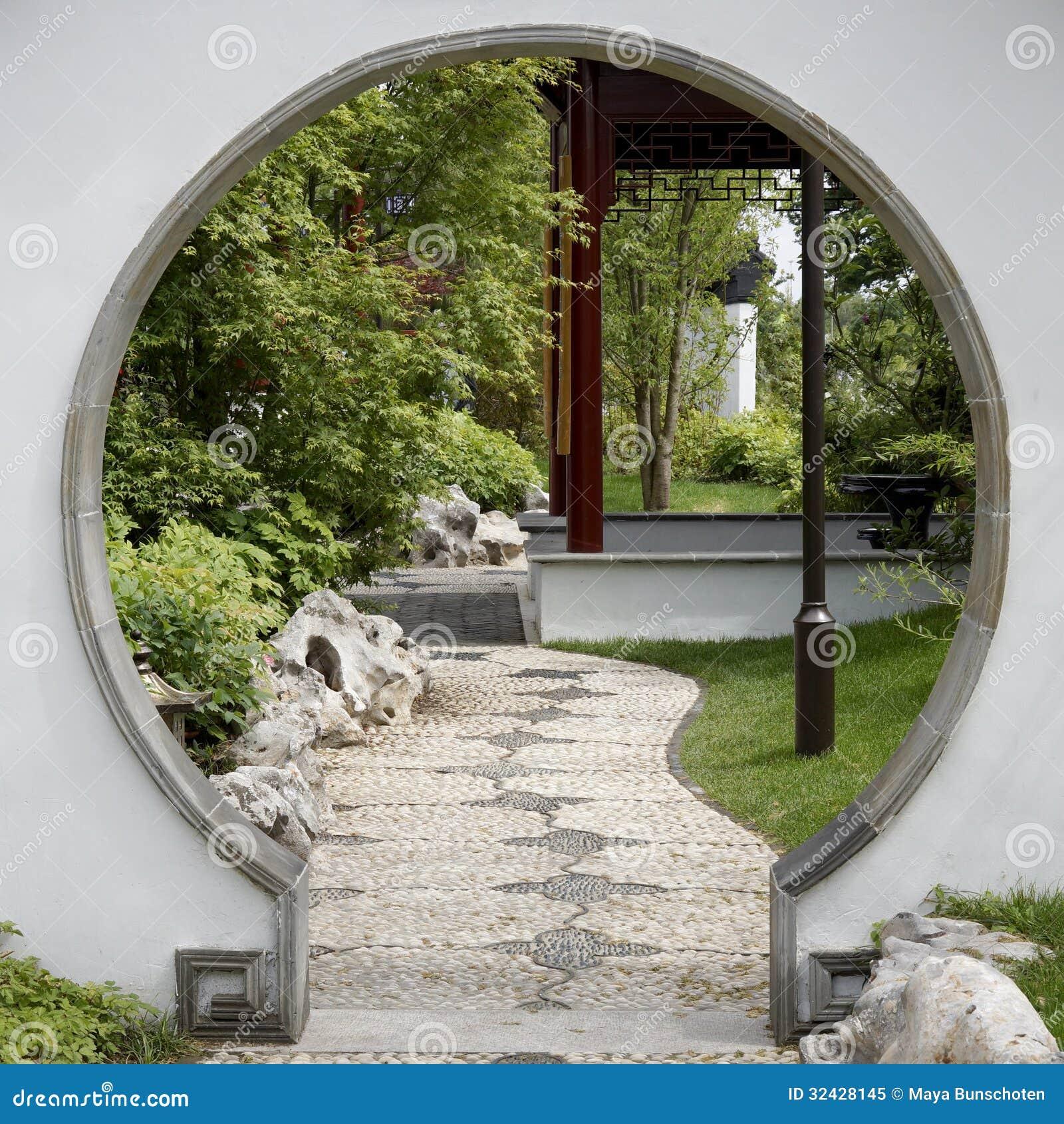 Porte au jardin japonais photo libre de droits image for Porte jardin
