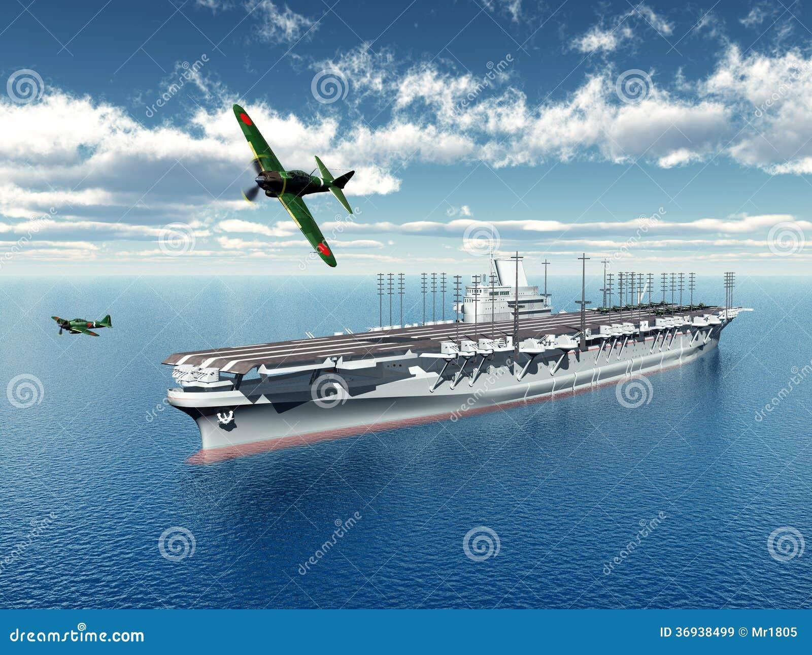 Porte avions japonais illustration stock illustration du - Porte avion japonais seconde guerre mondiale ...