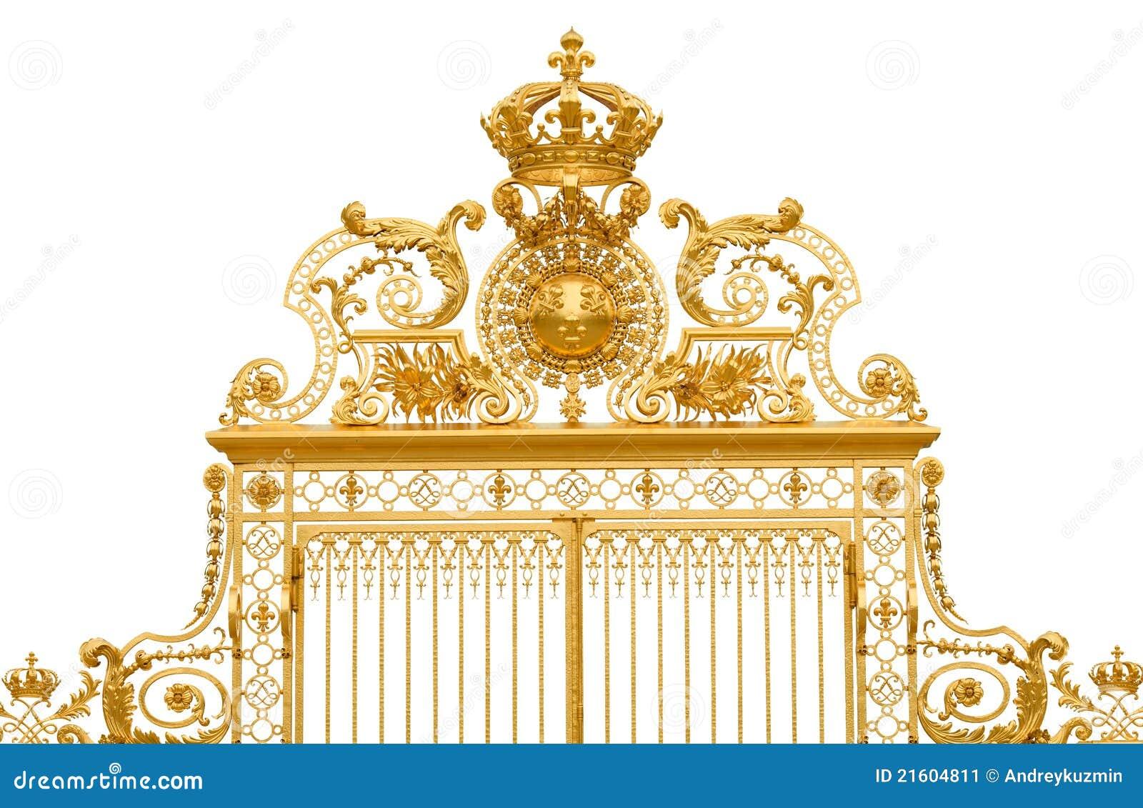 Porte d 39 or d 39 isolement de palais de versailles image stock - Palais des expositions porte de versailles ...