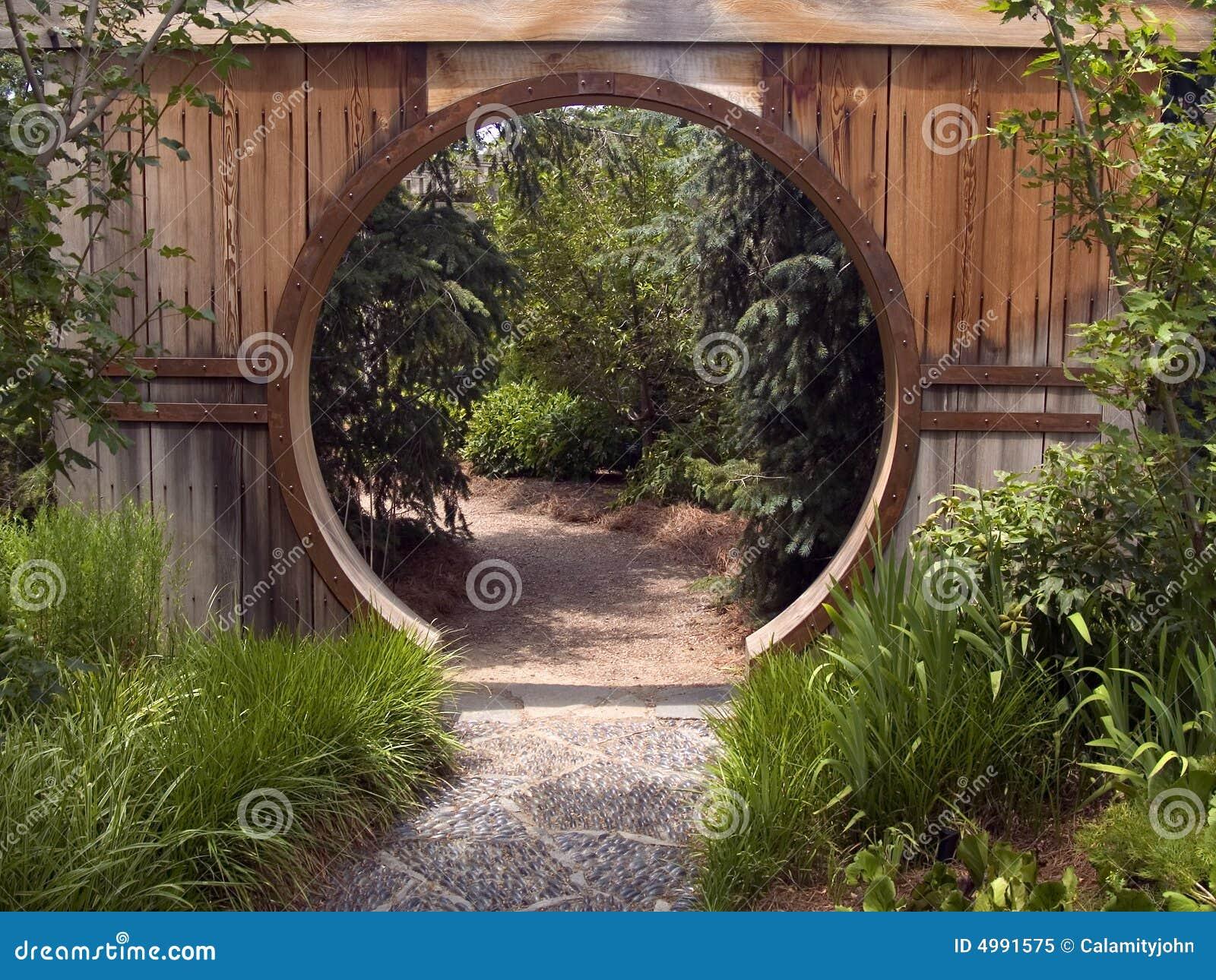 Porte de jardin japonaise photo libre de droits image for Porte jardin