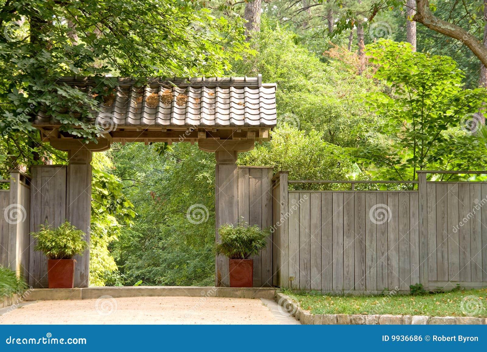 Porte De Jardin Japonaise De Pagoda Photo stock - Image du ...