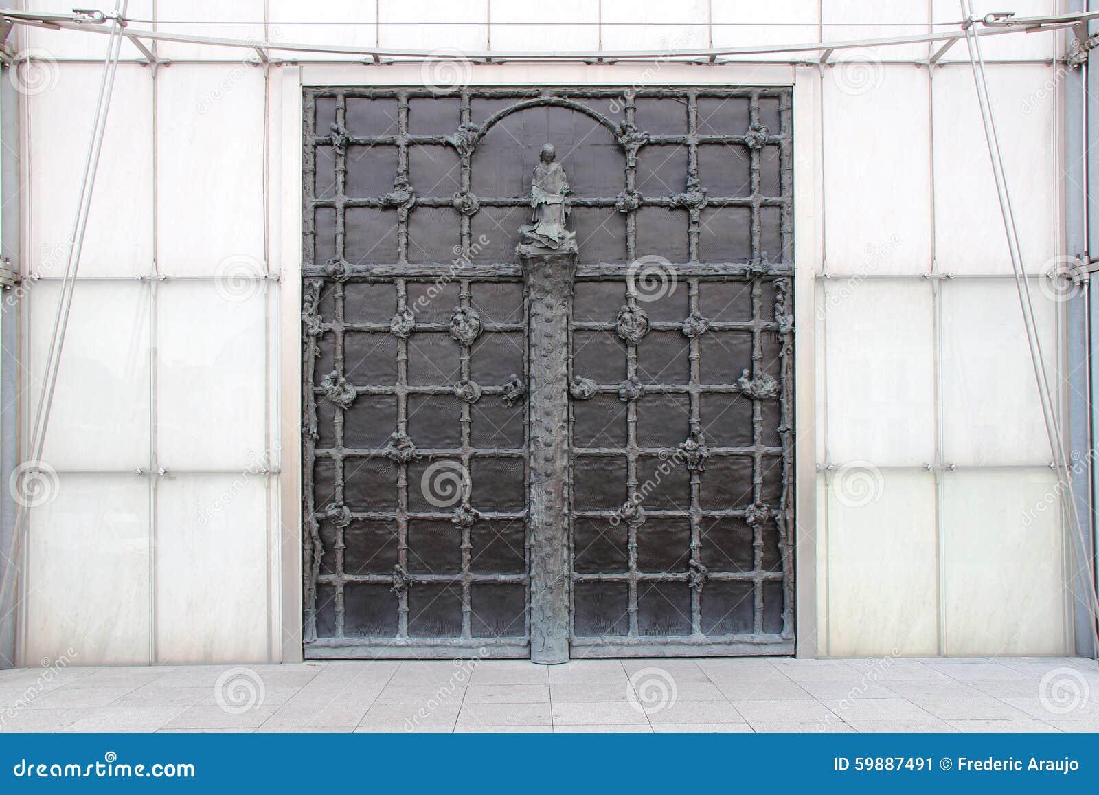Porte de la basilique de notre dame de la treille lille - Eglise notre dame de la treille lille ...