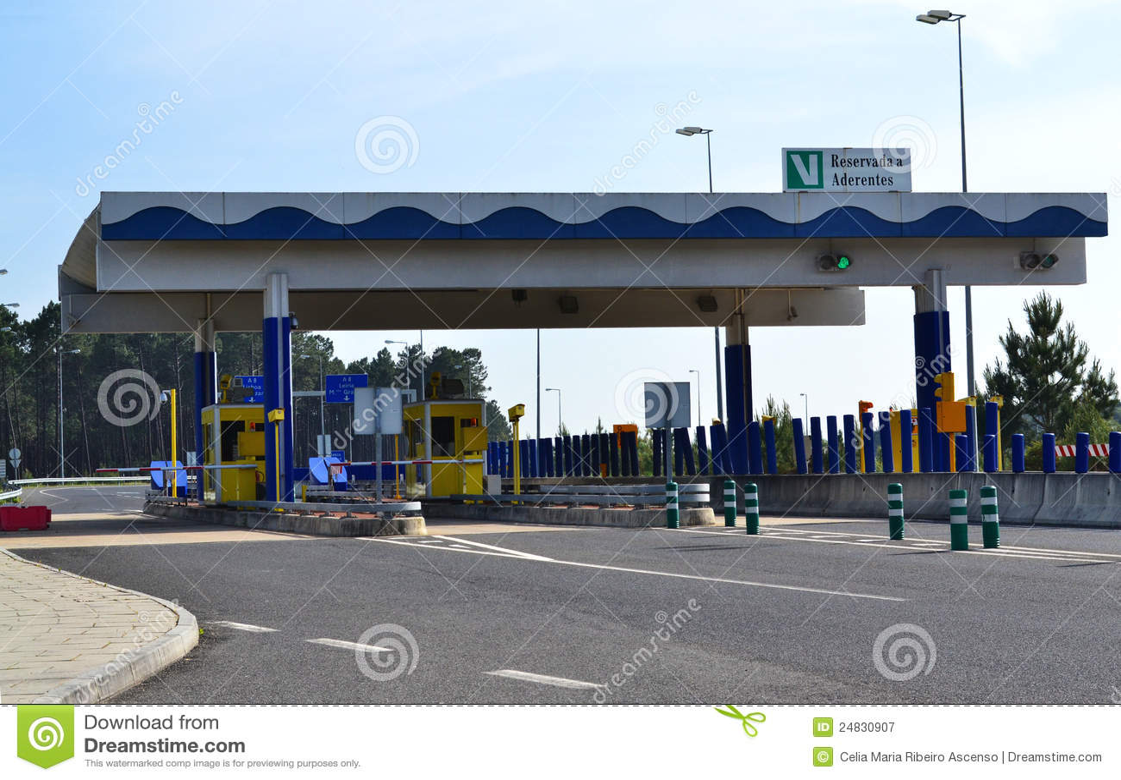 Porte de péage d omnibus