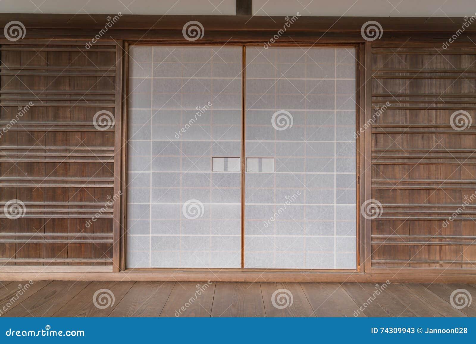 Porte De Papier Coulissante Japonaise Image Stock Image Du Inside
