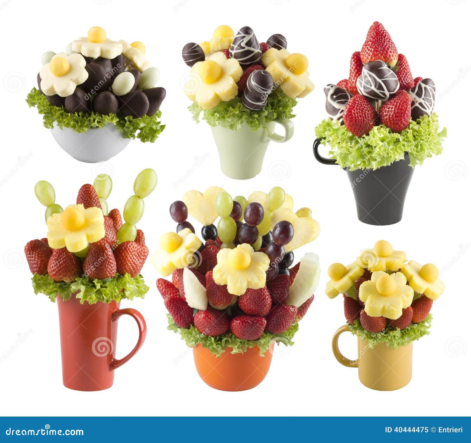 porte des fruits les bouquets des fleurs image stock image du bouquet sain 40444475. Black Bedroom Furniture Sets. Home Design Ideas