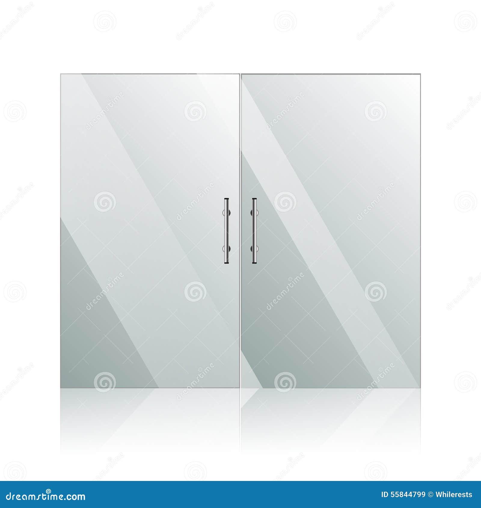 Porte di vetro con le maniglie dell 39 argento del cromo - Maniglie porte vetro ...