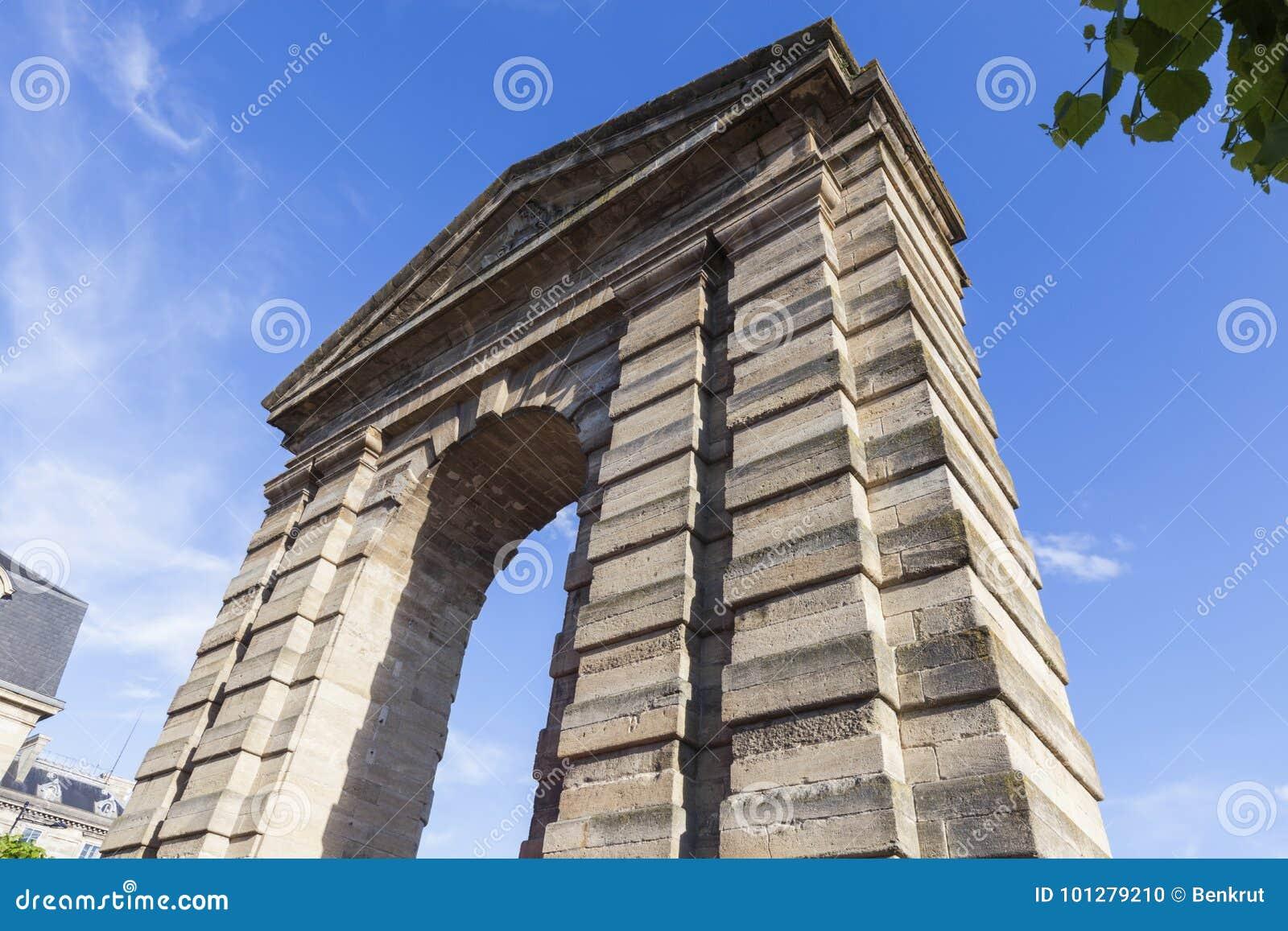 Porte Dijeaux In Bordeaux Stock Photo Image Of Blue 101279210