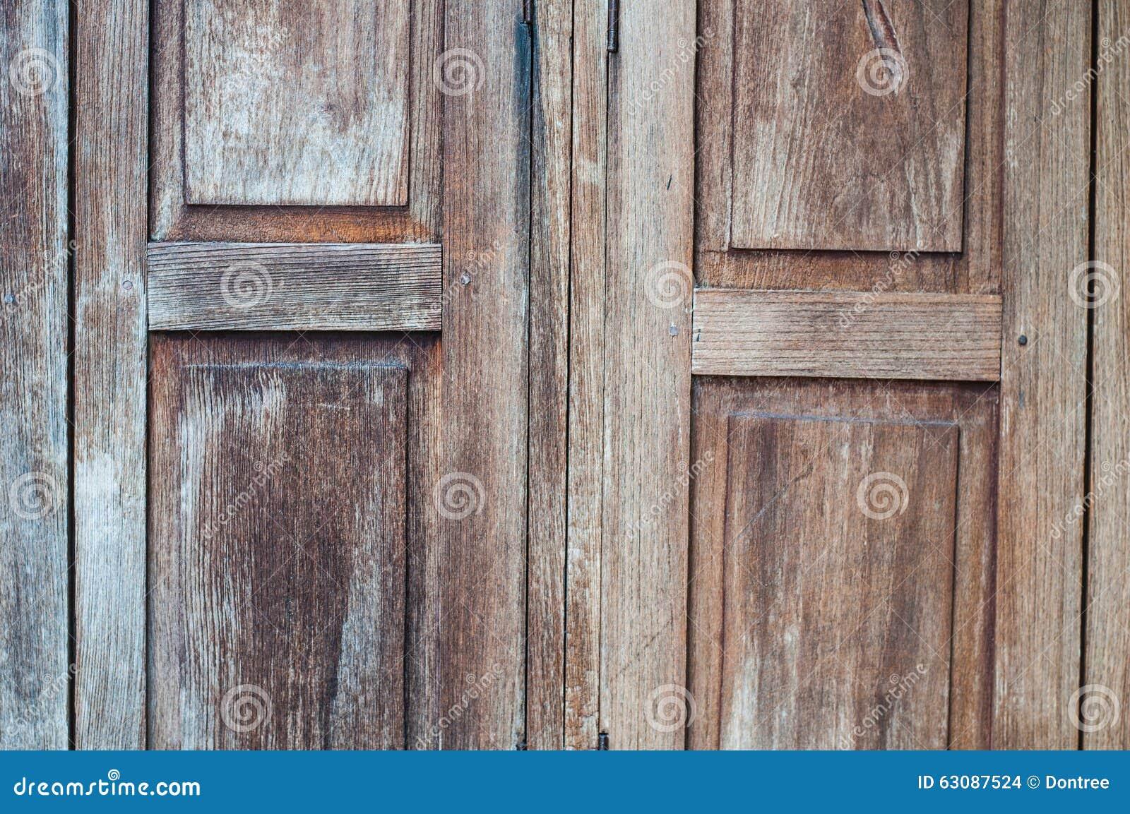 Download Porte En Bois Antique Fermée Photo stock - Image du coups, doorknob: 63087524