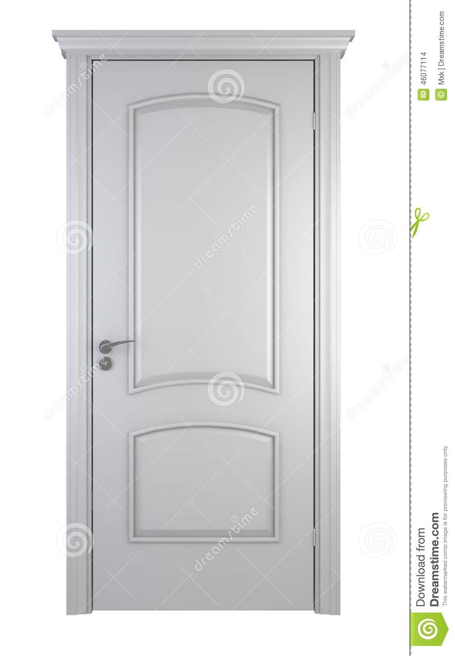 Porte en bois blanche illustration stock image du for Porte en bois