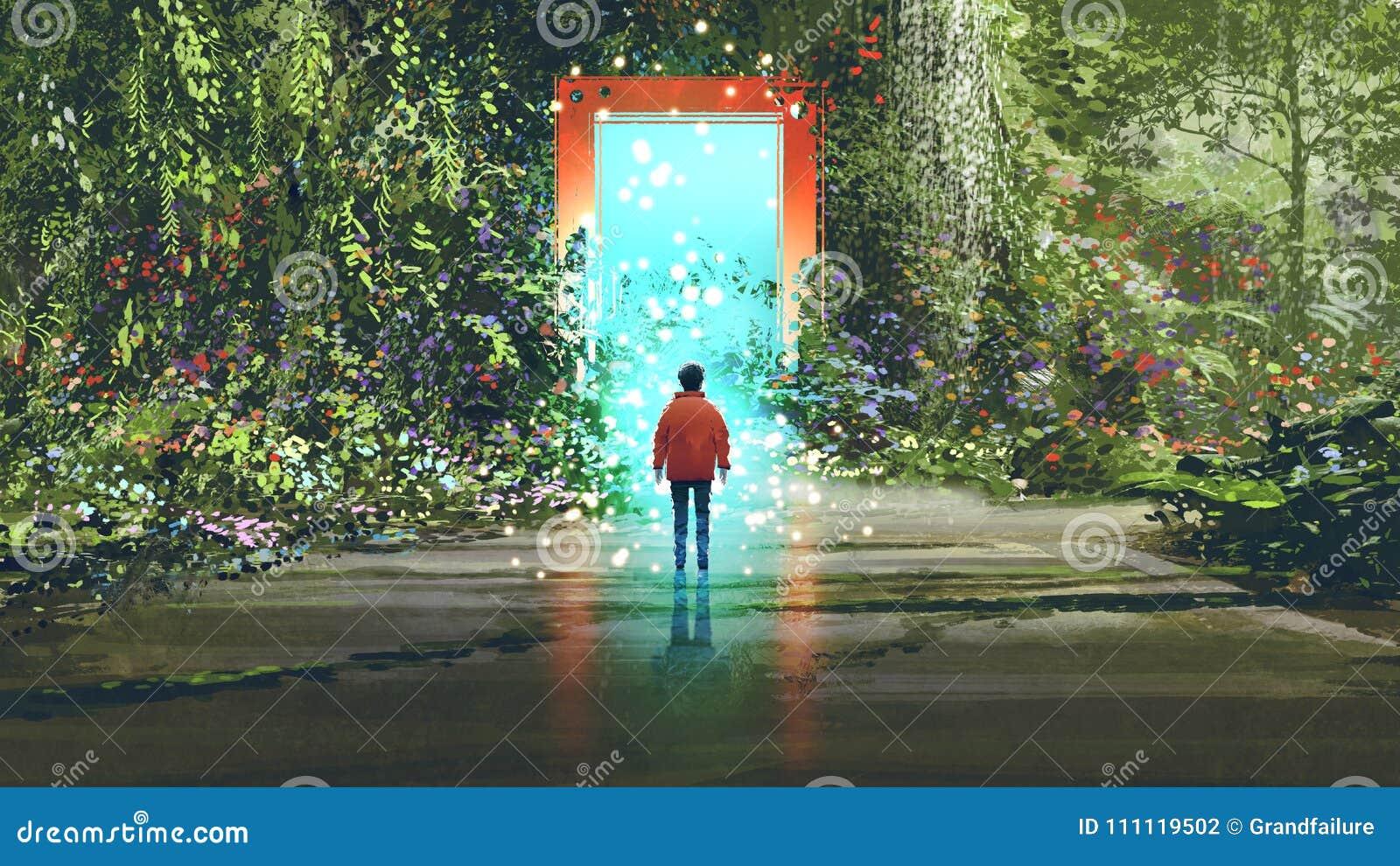 Porte magique dans un autre endroit