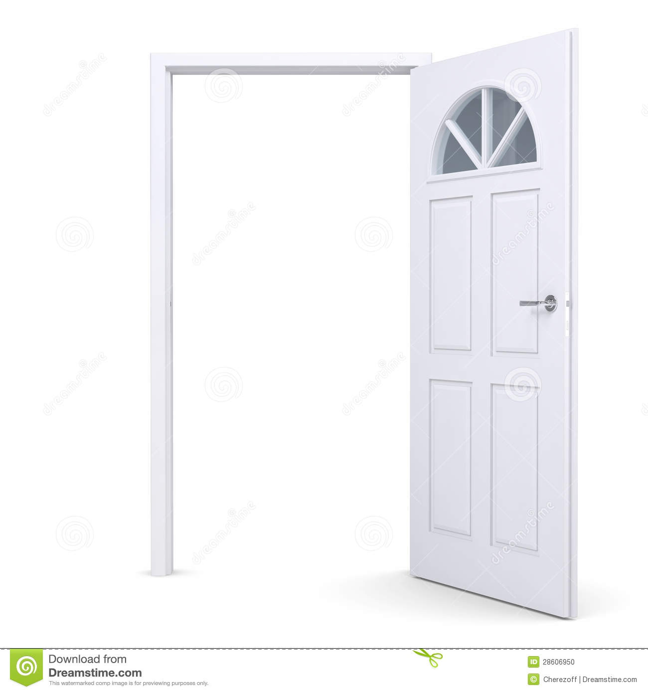Porte ouverte blanche illustration stock illustration du for Porte ouverte