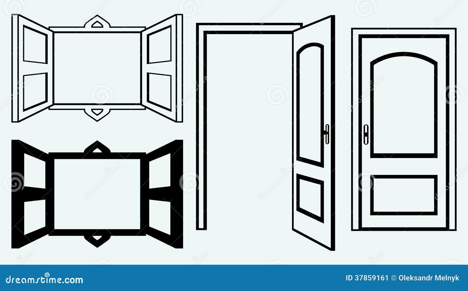 Porte ouverte et fen tre image stock image 37859161 - Eglise la porte ouverte culte en direct ...