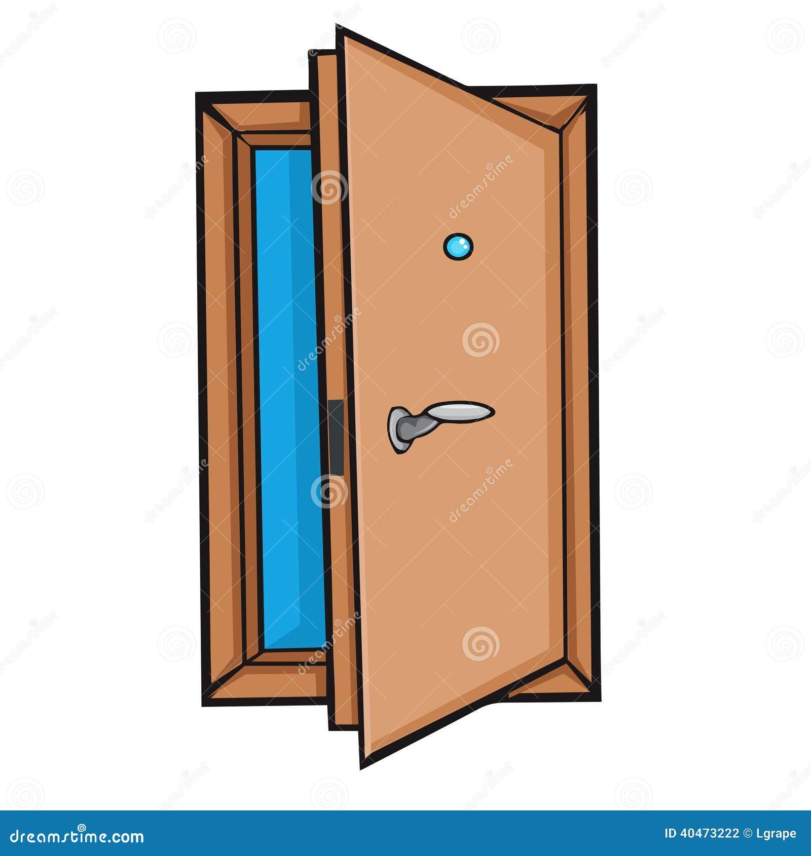 Porte ouverte style de bande dessin e illustration de for Porte ouverte dessin