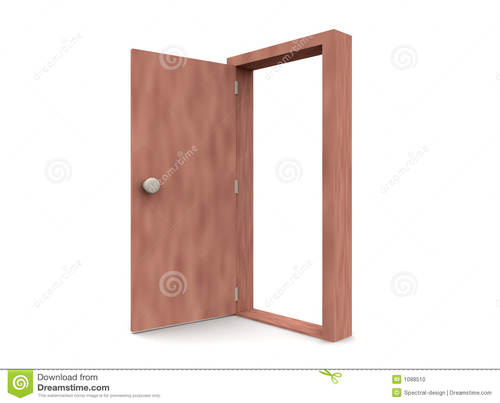 Porte ouverte type 2 de dessin anim illustration stock for Porte ouverte dessin