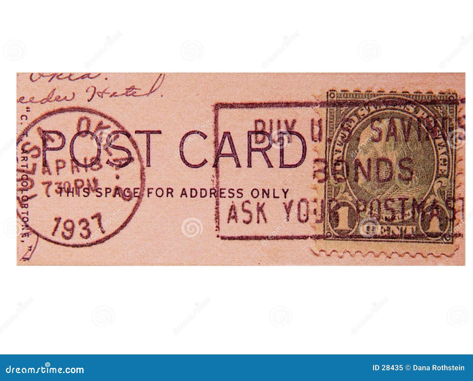Porte postal do vintage
