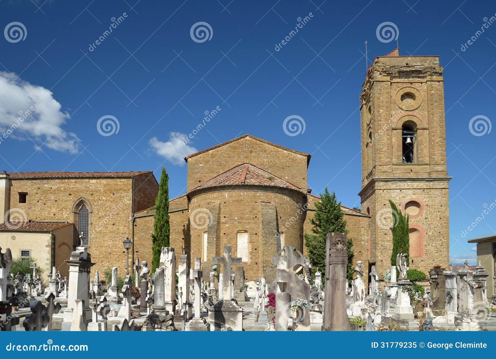 porte sante cemetery and san miniato basilica in florence