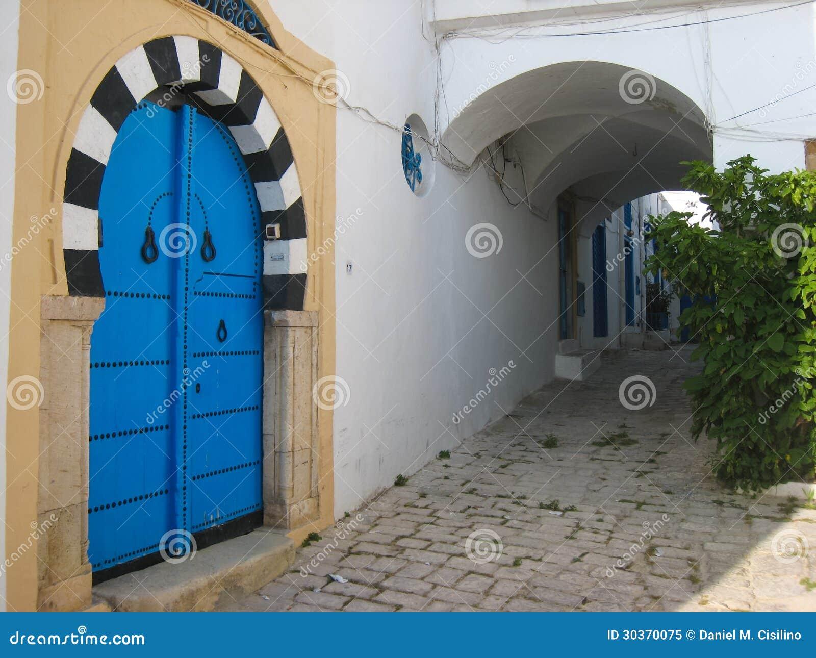 Porte style mauresque sidi bou said tunisie for Decoration porte sidi bou said