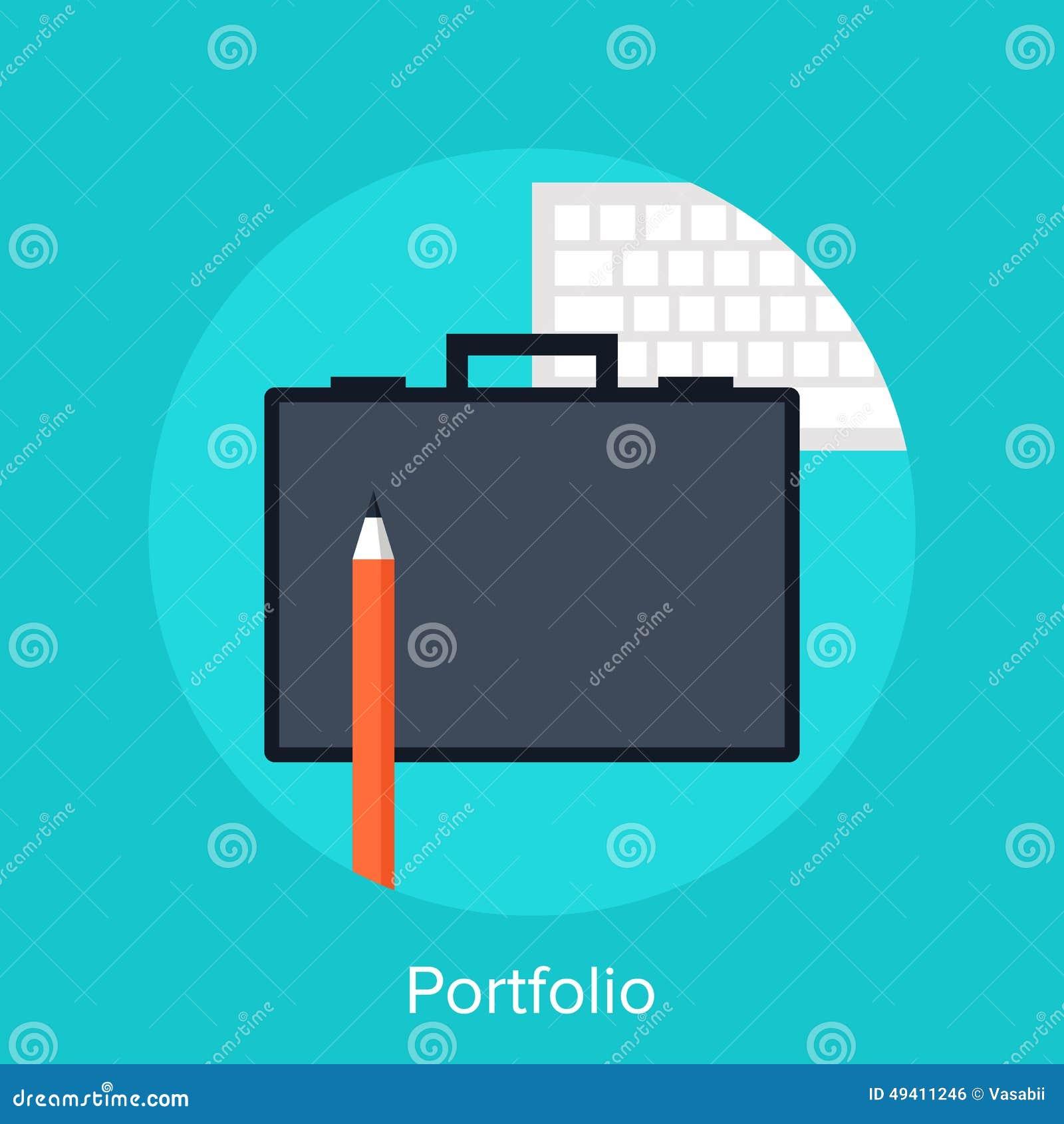 Download Portefeuille vektor abbildung. Illustration von bleistift - 49411246