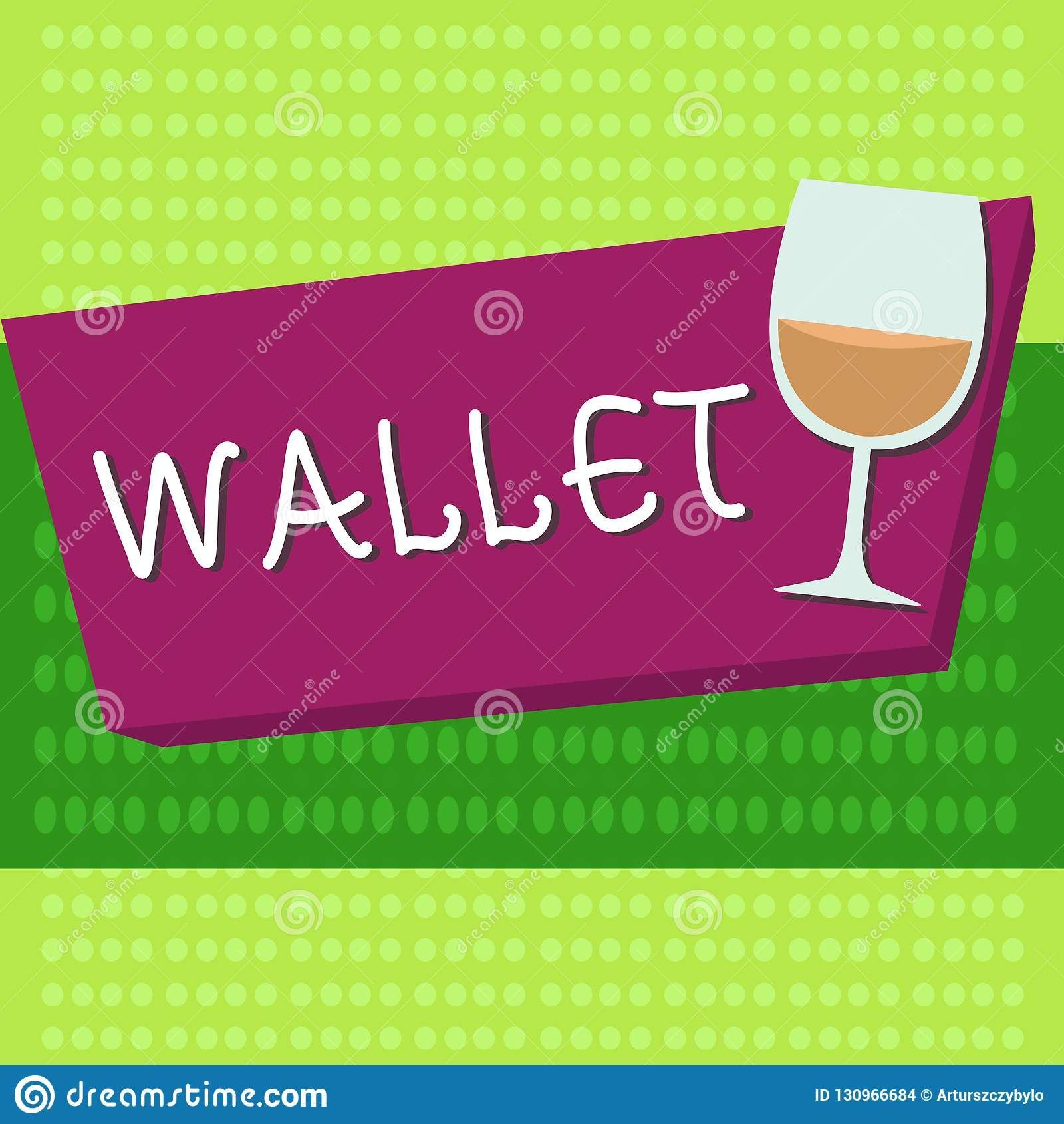 Portefeuille des textes d écriture Concept signifiant le point de droit se pliant plat de poche pour tenir des cartes d argent et