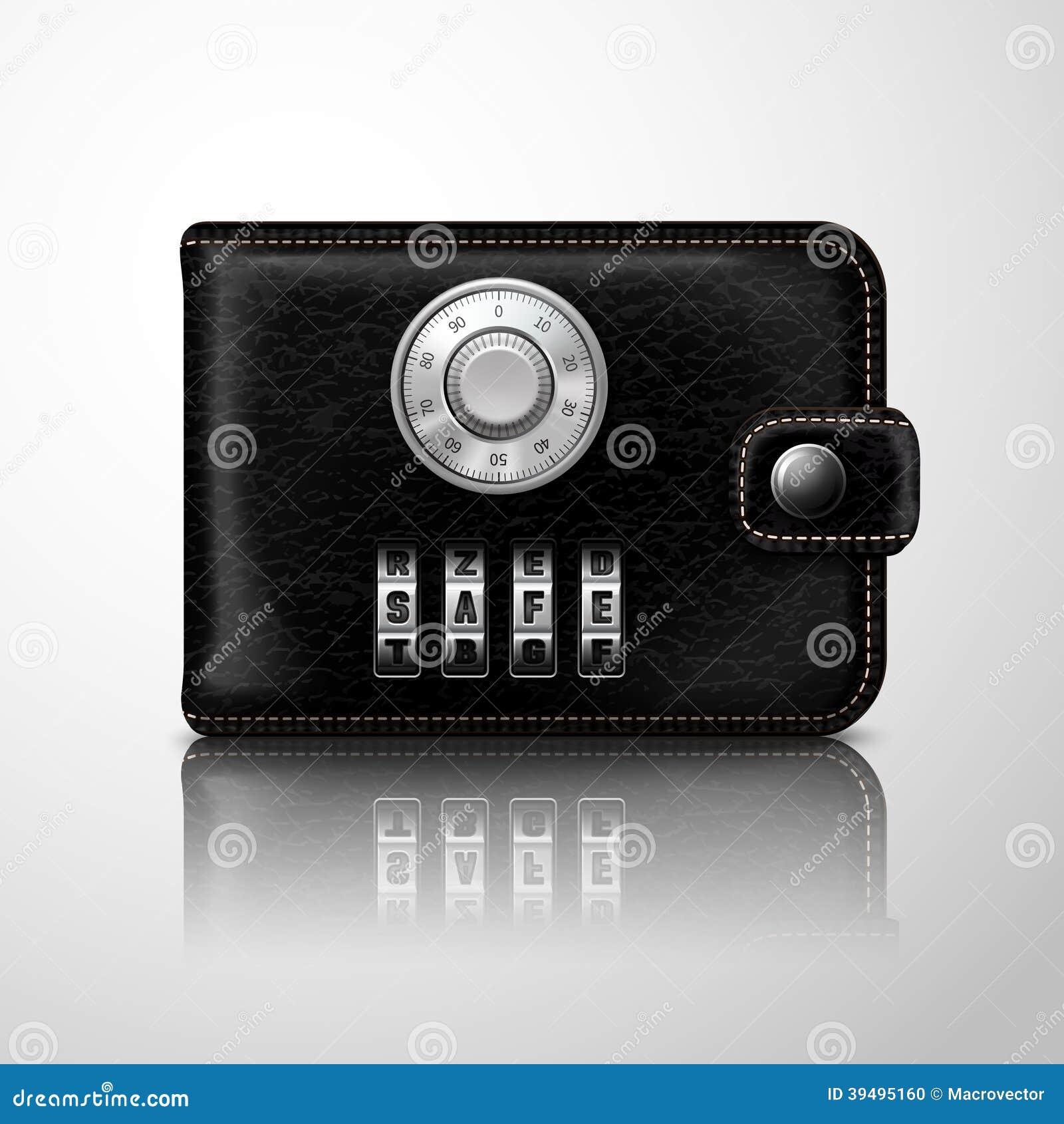 Portefeuille verrouill avec le code de combinaison illustration de vecteur - Porte blindee avec code ...