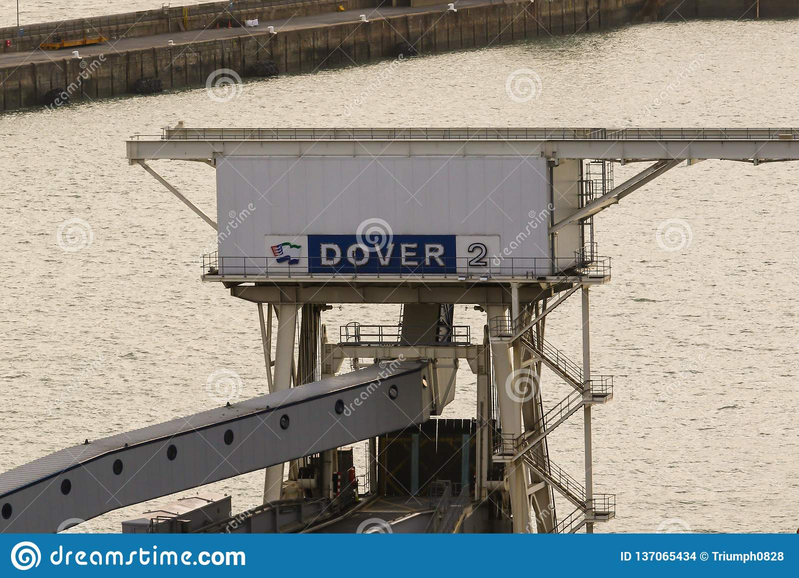 Porten av Dover i Kent United Kingdom