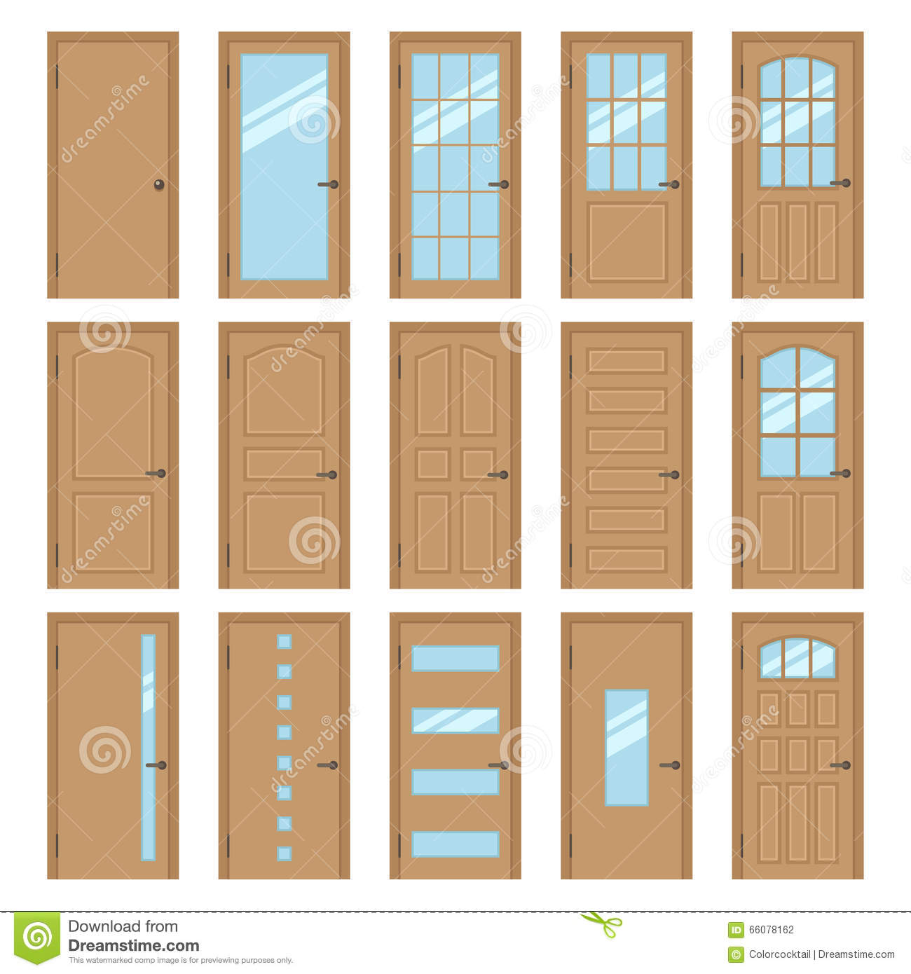Portes int rieures illustration de vecteur image 66078162 for Type de porte