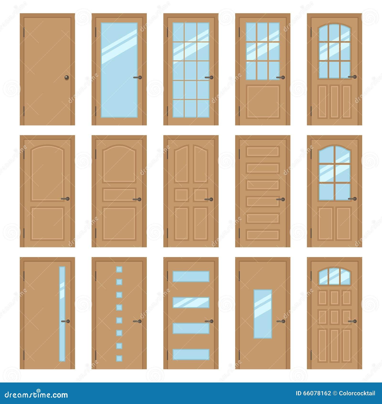 Portes int rieures illustration de vecteur image 66078162 for Portes interieurs