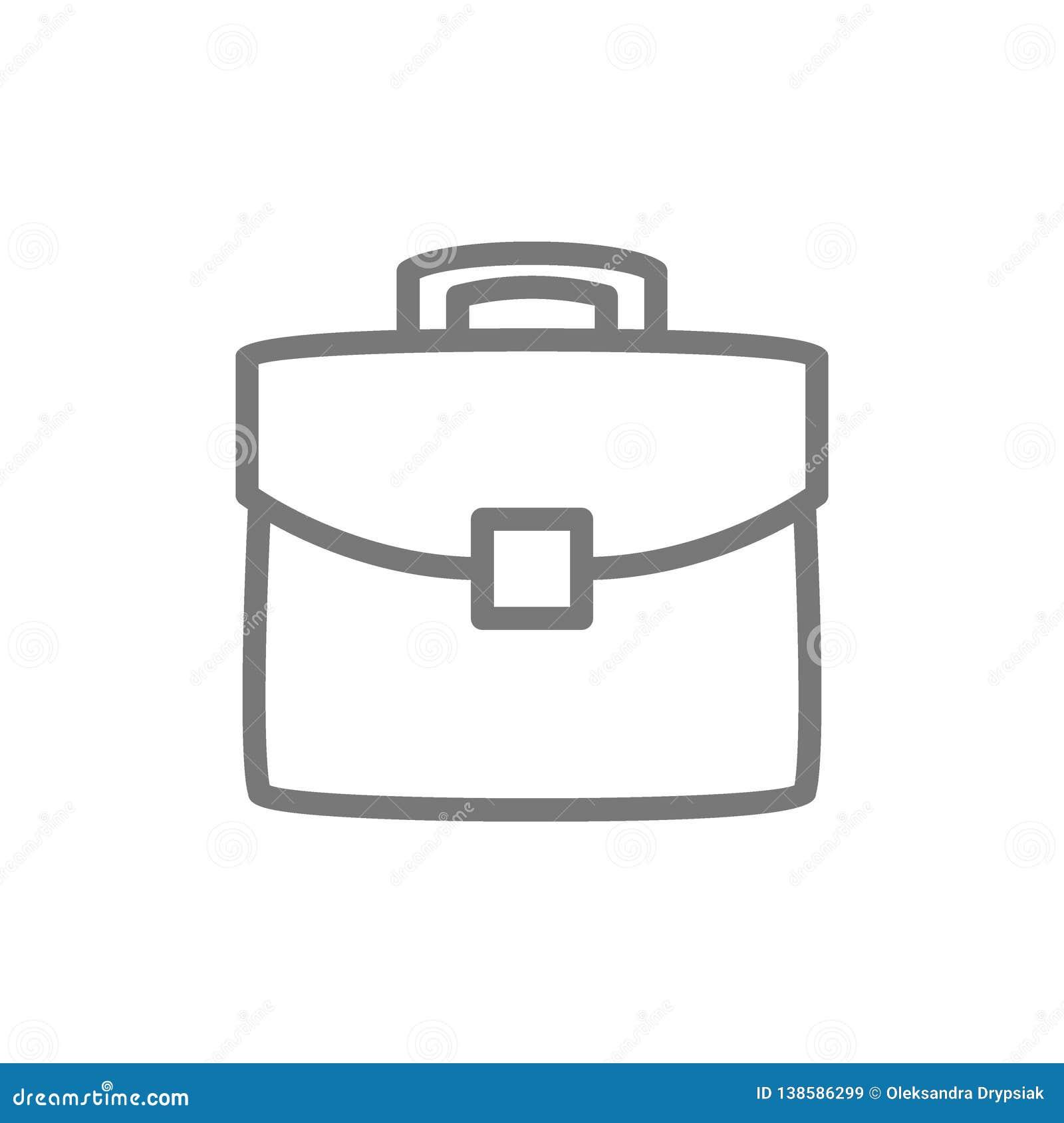 Portfölj portfölj, påselinje symbol
