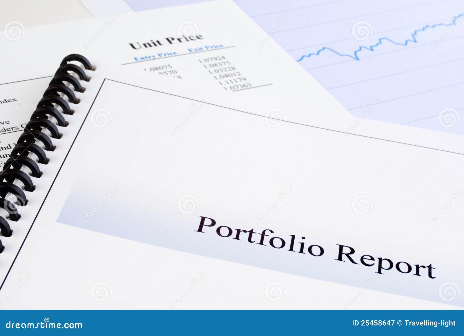 portfolio report stock image  image of booklet  financial