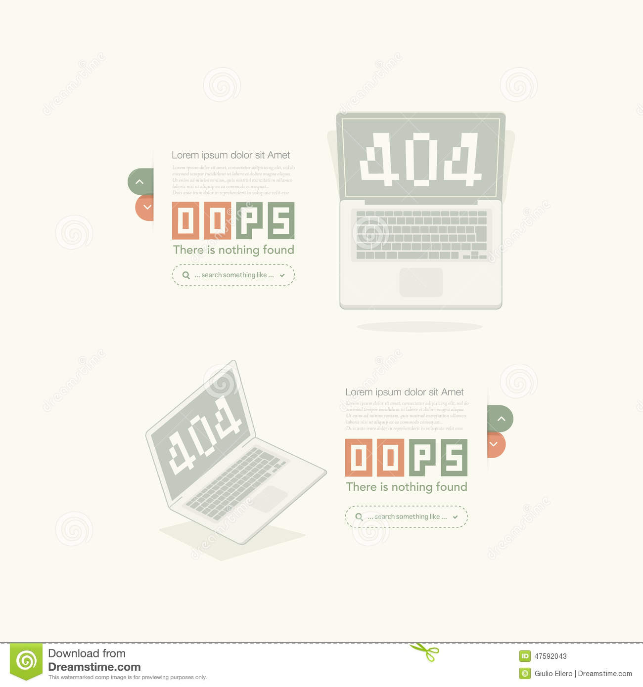Portfolio Website Templates Stock Vector Illustration Of