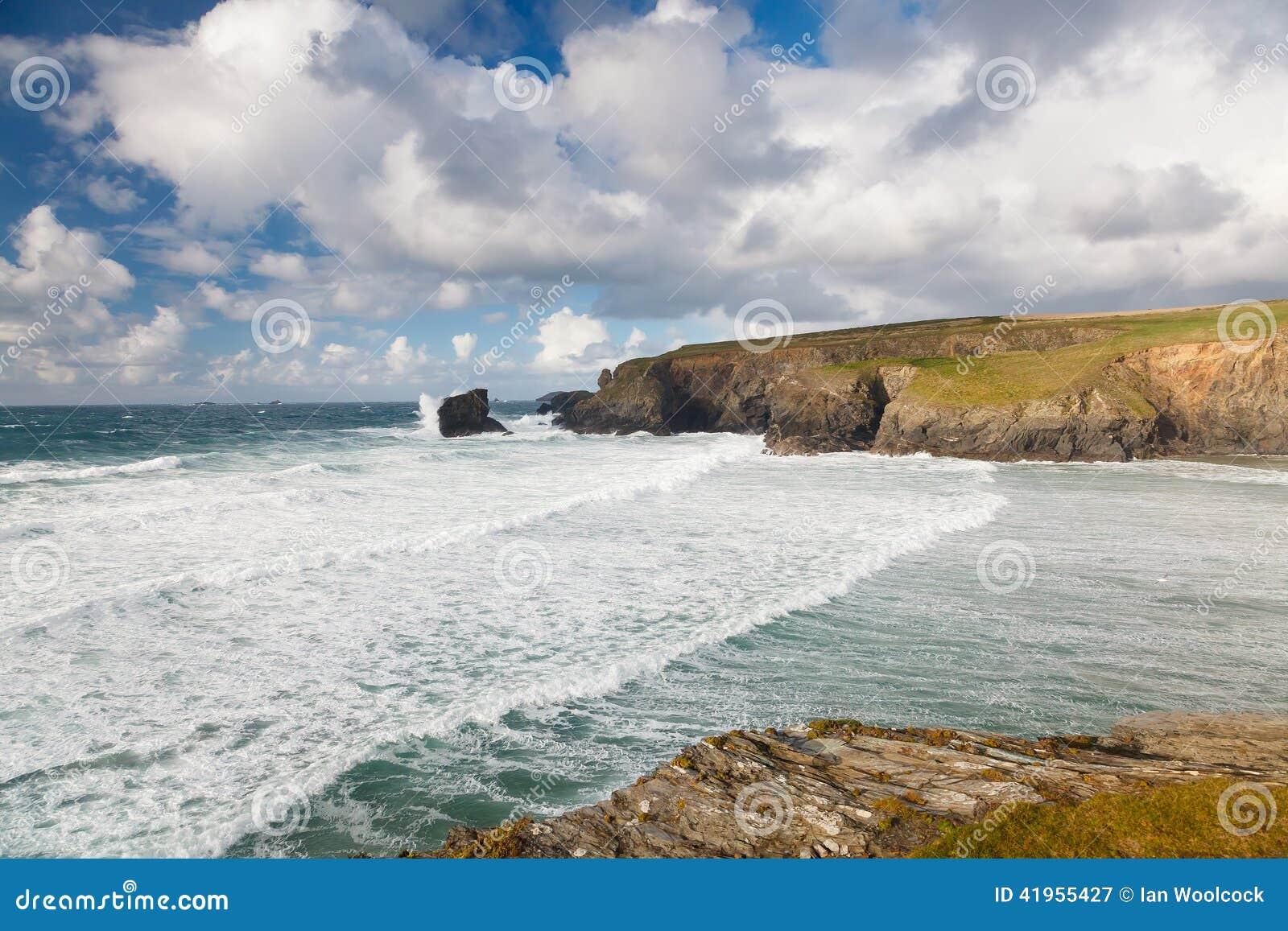 Porthcothan zatoka Cornwall Anglia