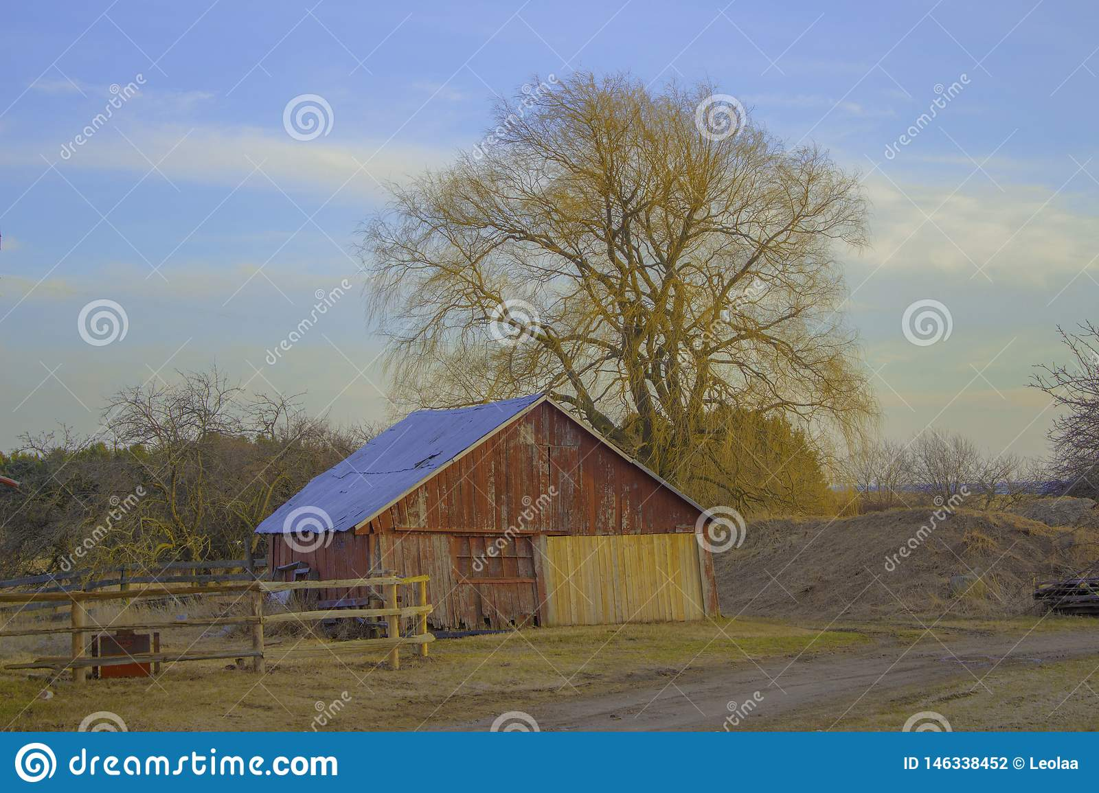 A Shed In A Farmer`s Field
