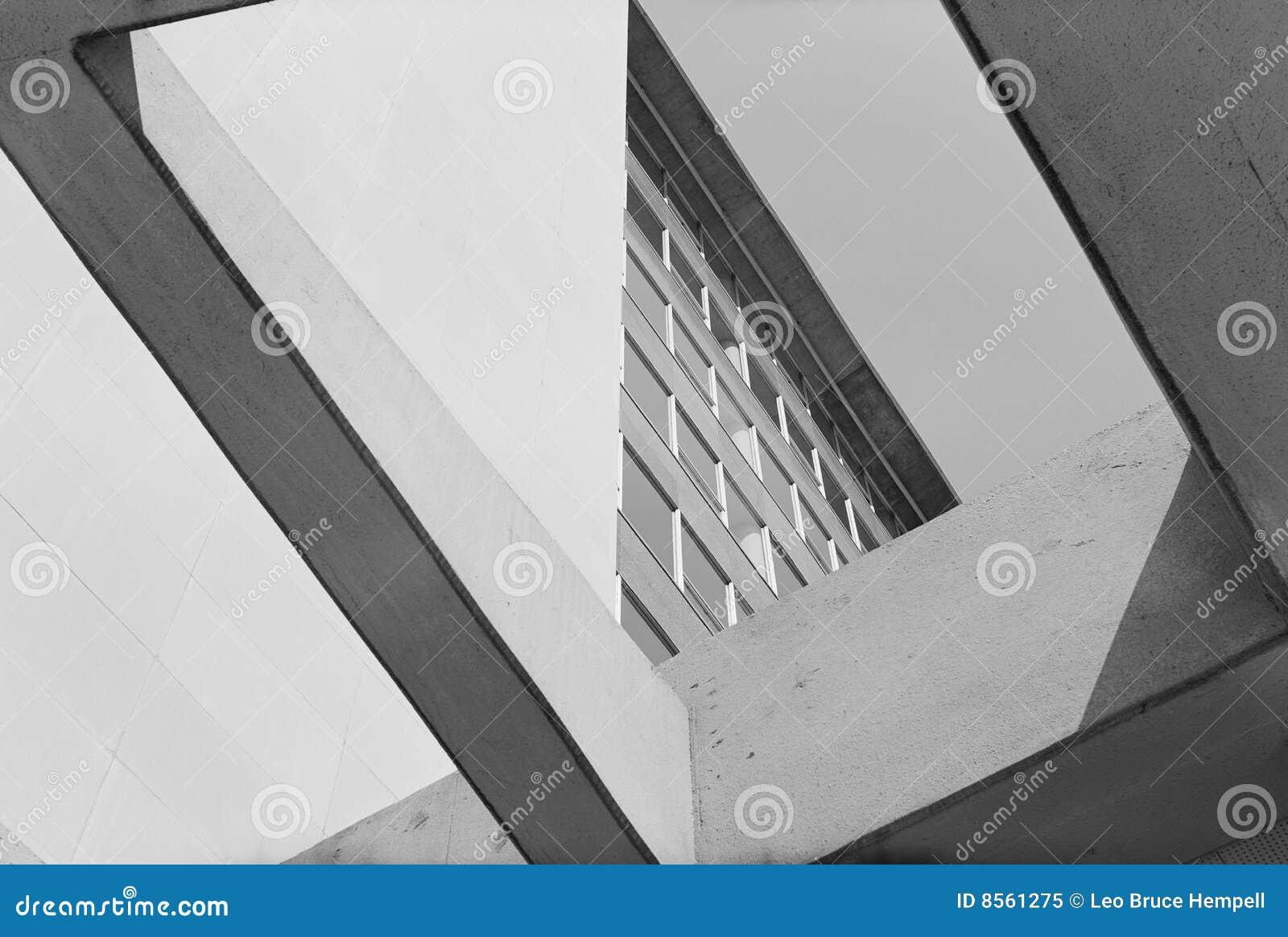 Portico moderno immagine stock immagine di bianco nero for Portico moderno