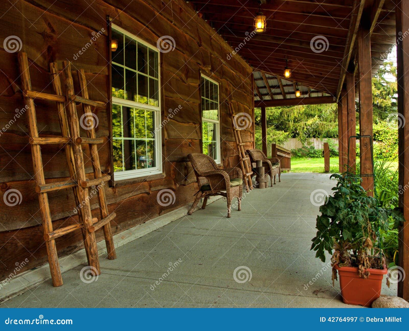 portico rustico fotografia stock immagine 42764997
