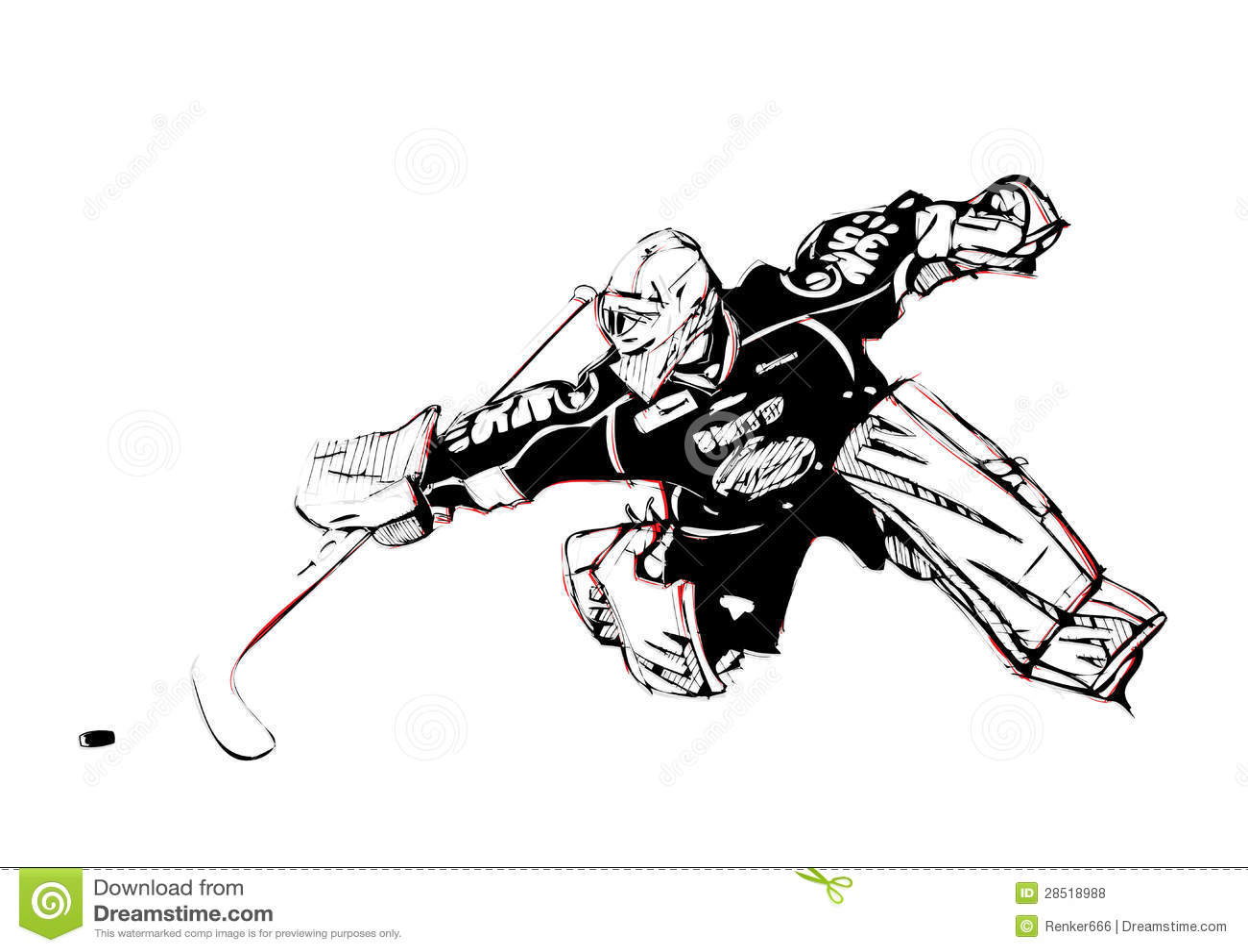 Portiere dell hockey su ghiaccio