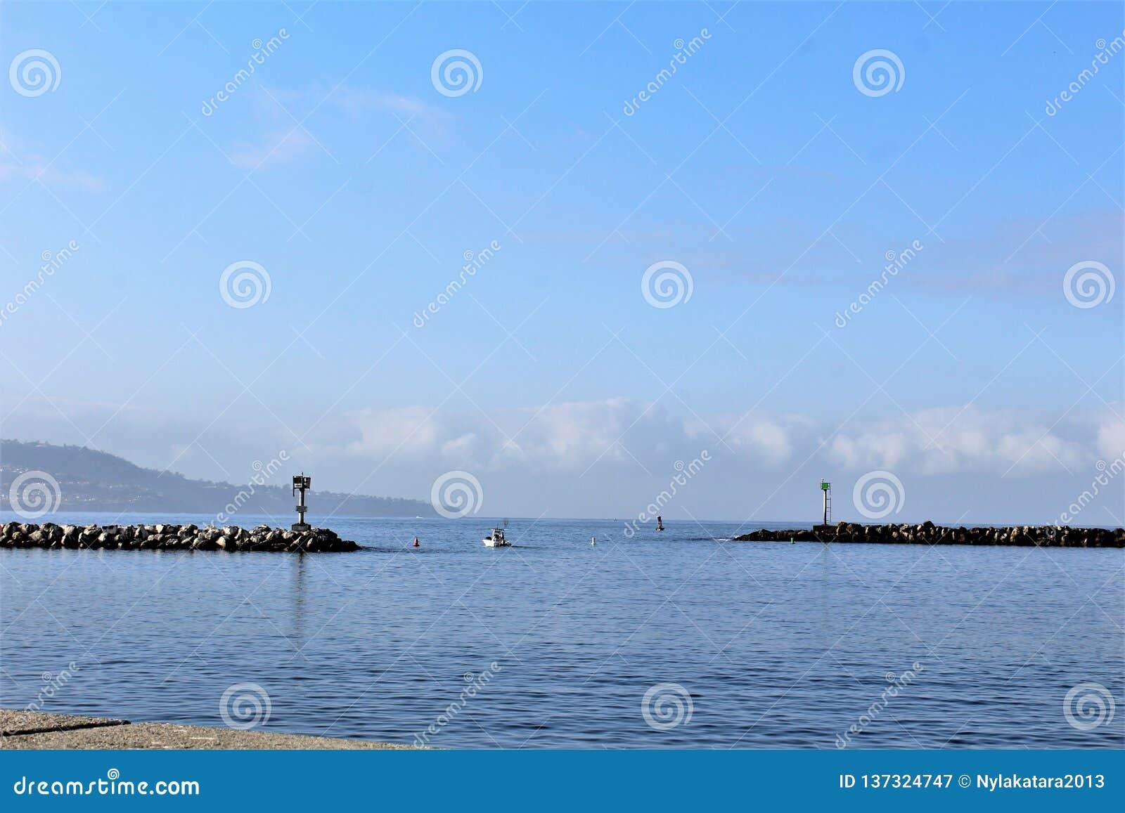 Portifino加利福尼亚海边在雷东多海滩,加利福尼亚,美国