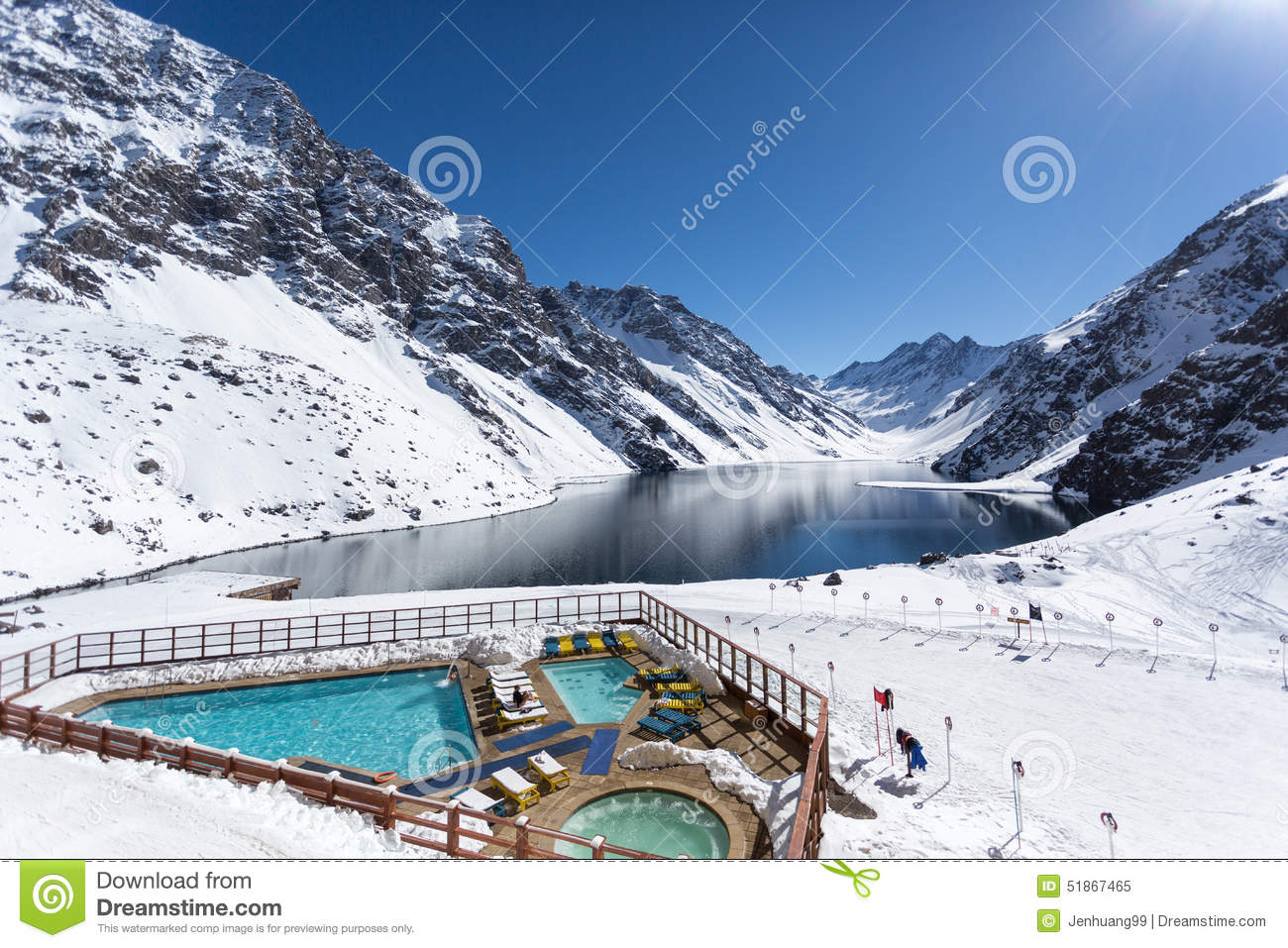 Portillo, Ski Resort, Los Andes of Chile, South America