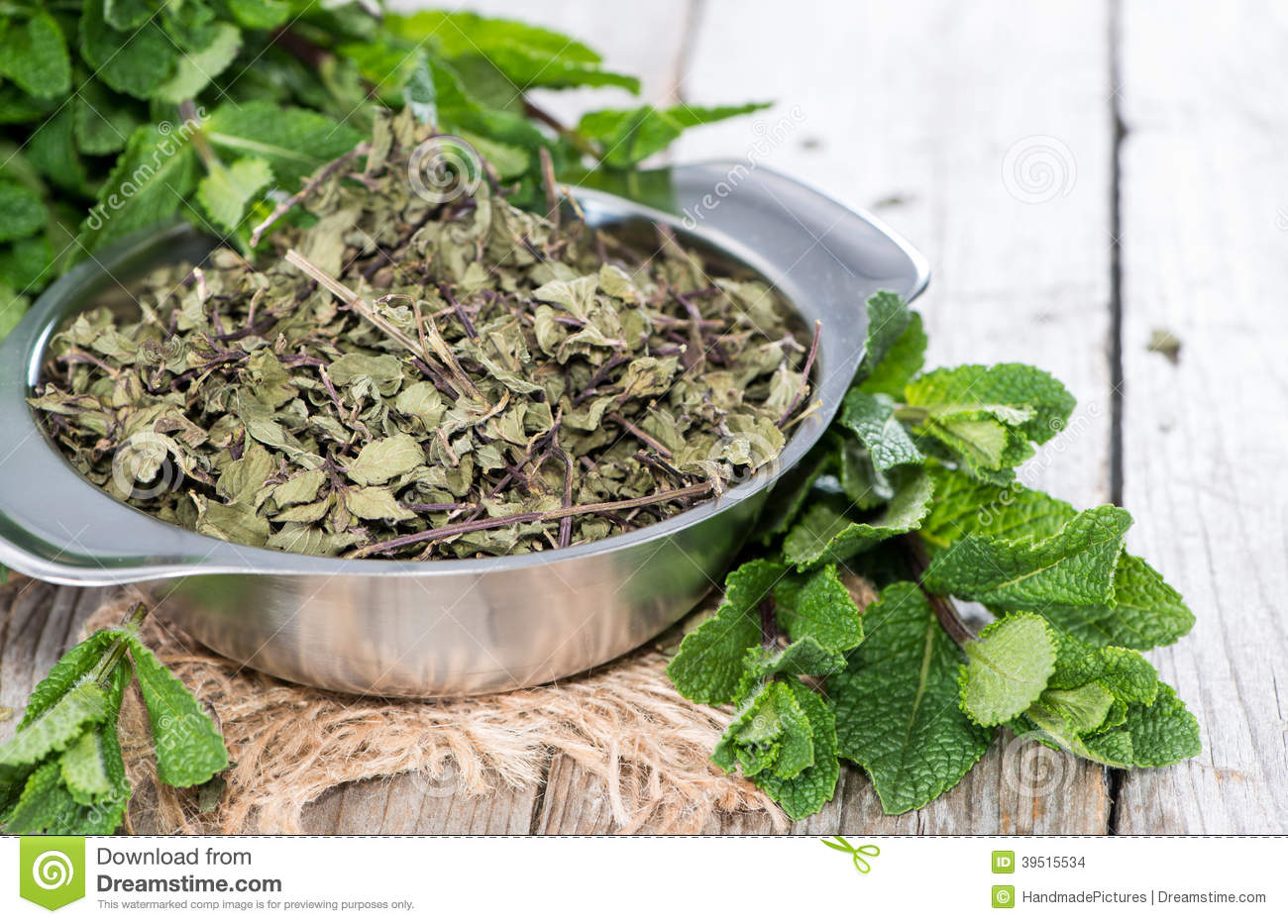 Portion of dried Mint