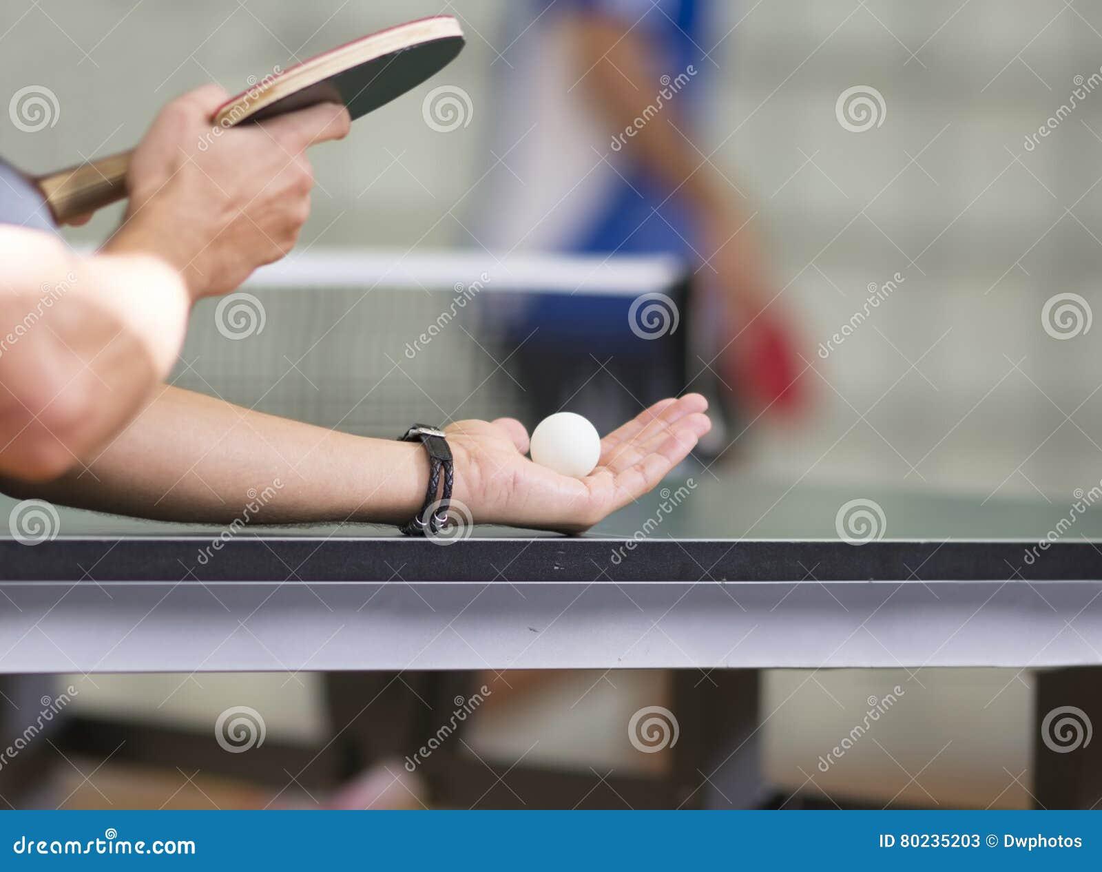 Portion för bordtennisspelare