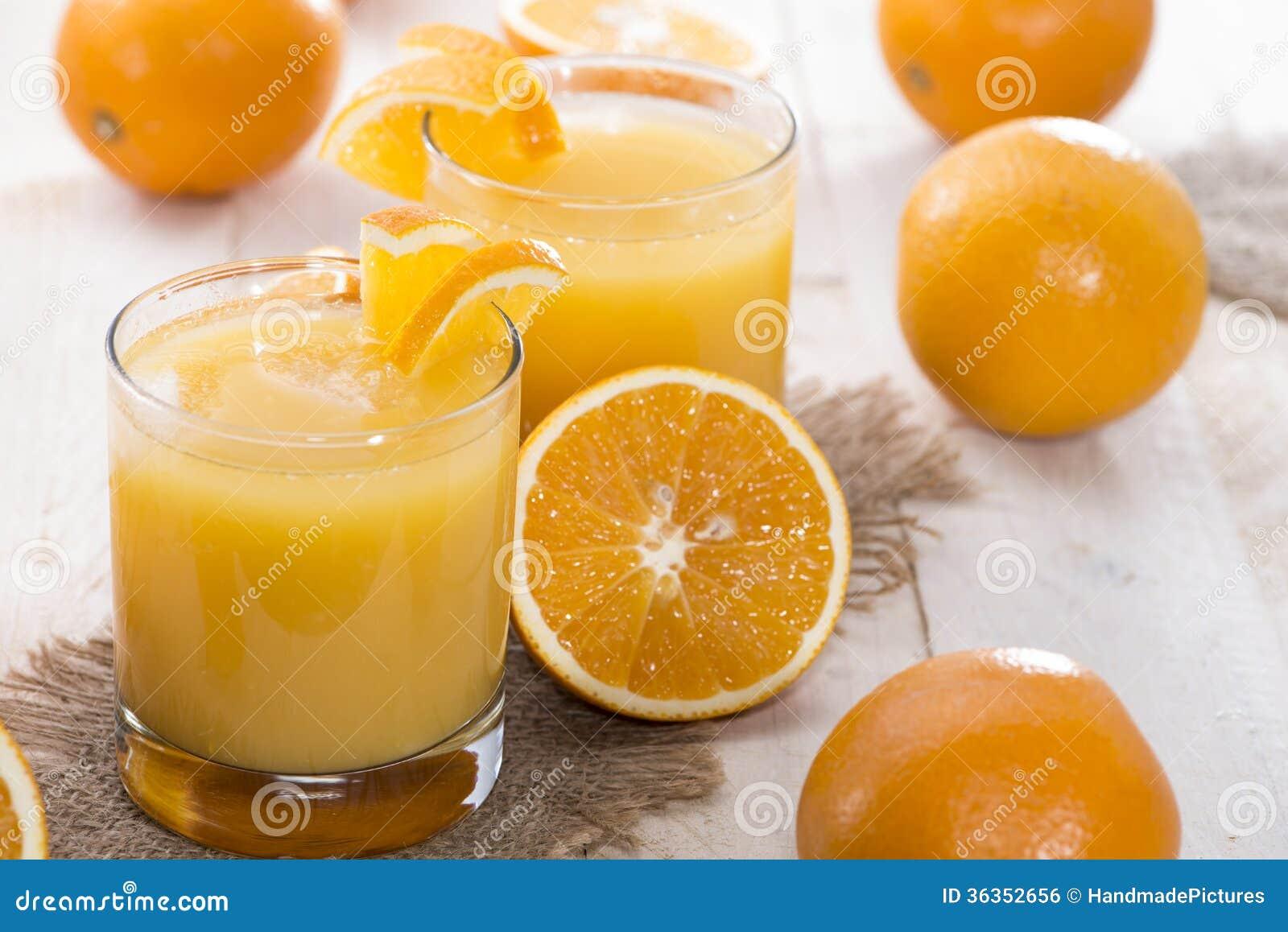 portion of fresh made orange juice royalty free stock image