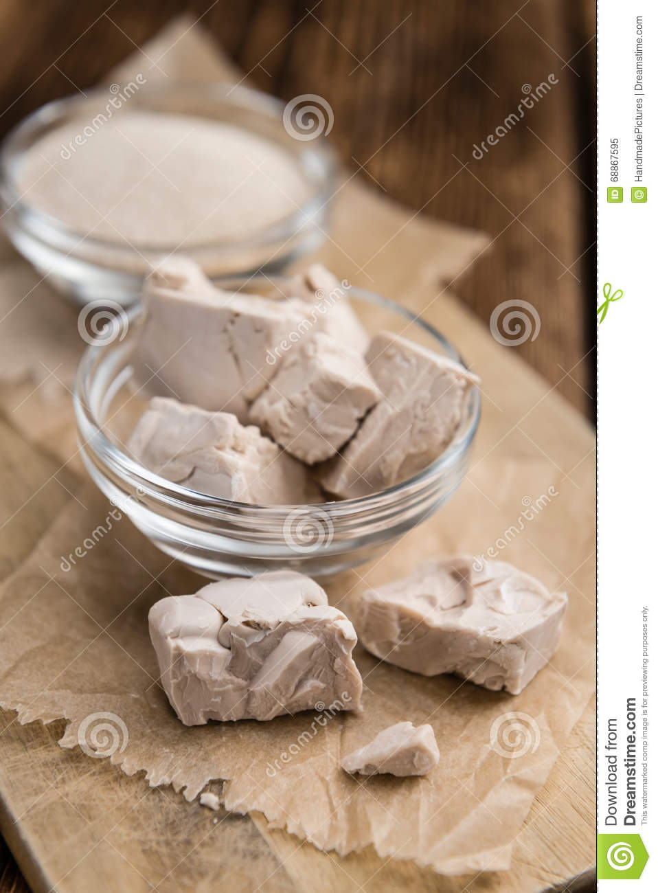 Portion of Yeast (fresh and dried)