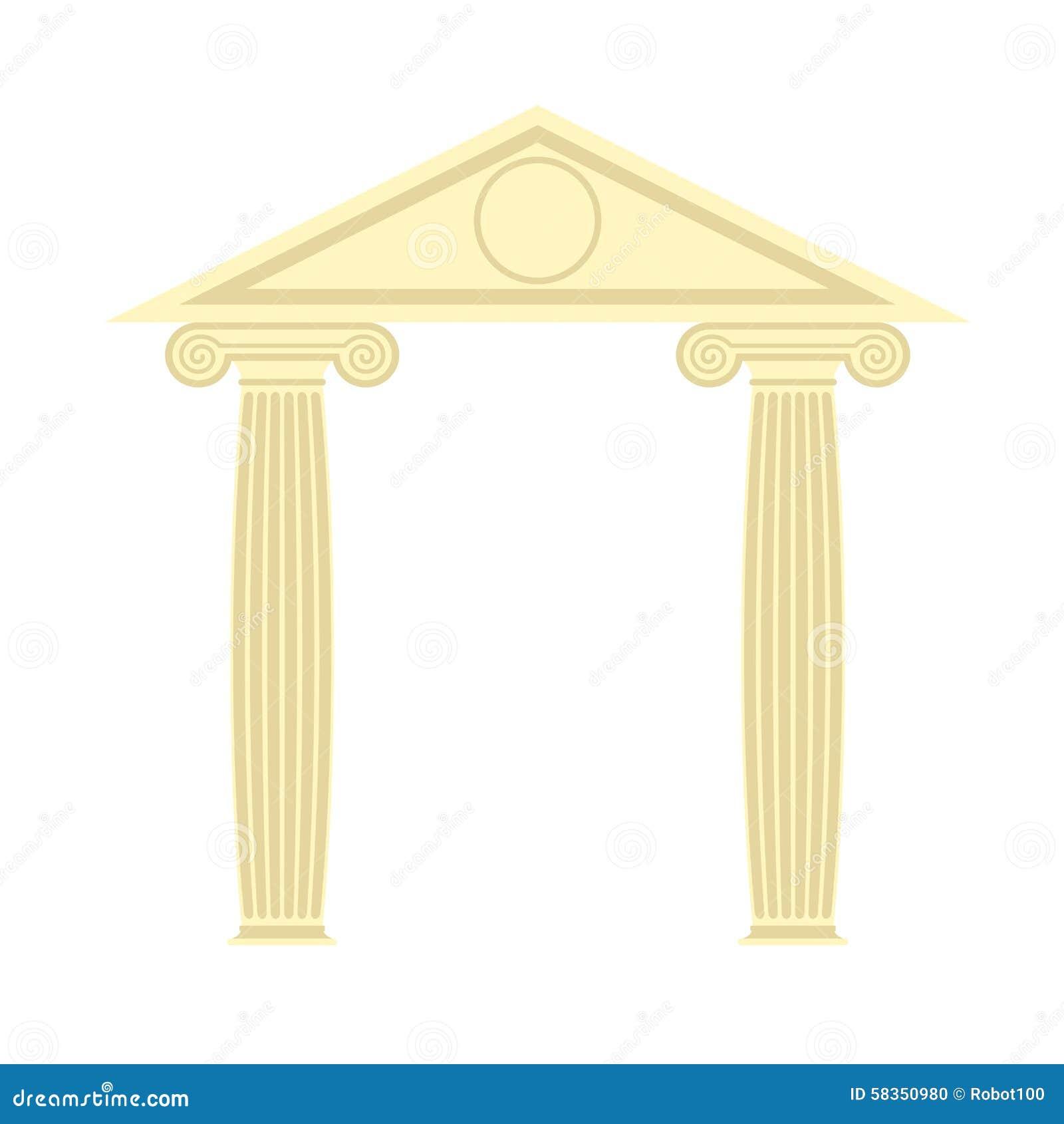 portique grec temple grec deux colonne et toit illustr de. Black Bedroom Furniture Sets. Home Design Ideas