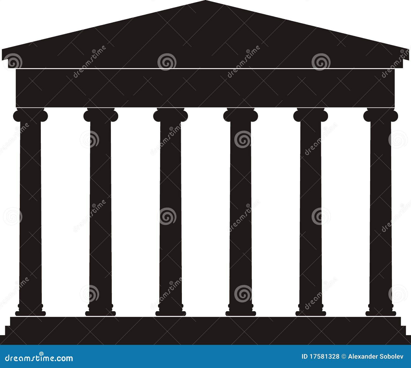 portique vestibule temple antique illustration de. Black Bedroom Furniture Sets. Home Design Ideas