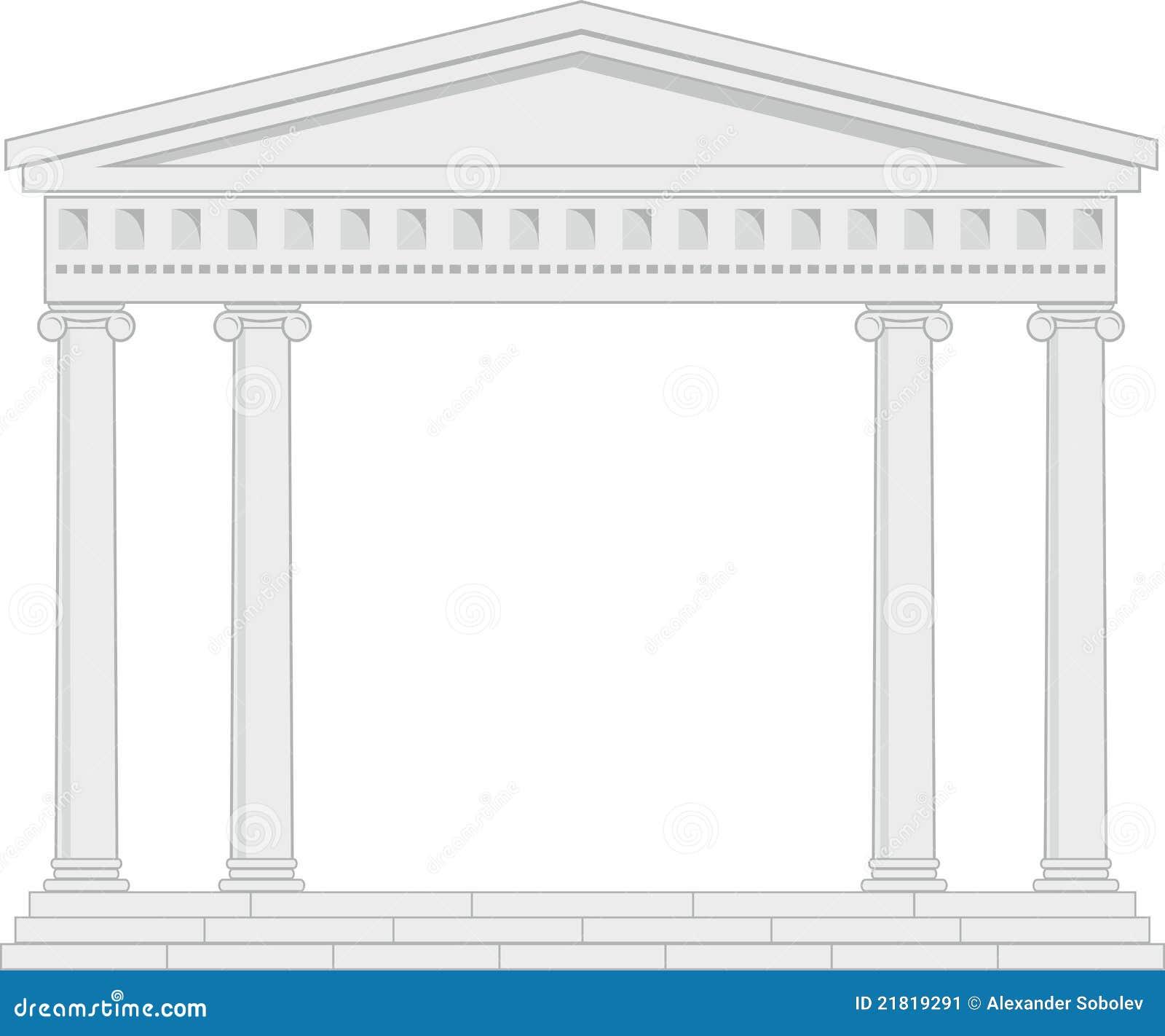 portique vestibule un temple antique illustration de. Black Bedroom Furniture Sets. Home Design Ideas