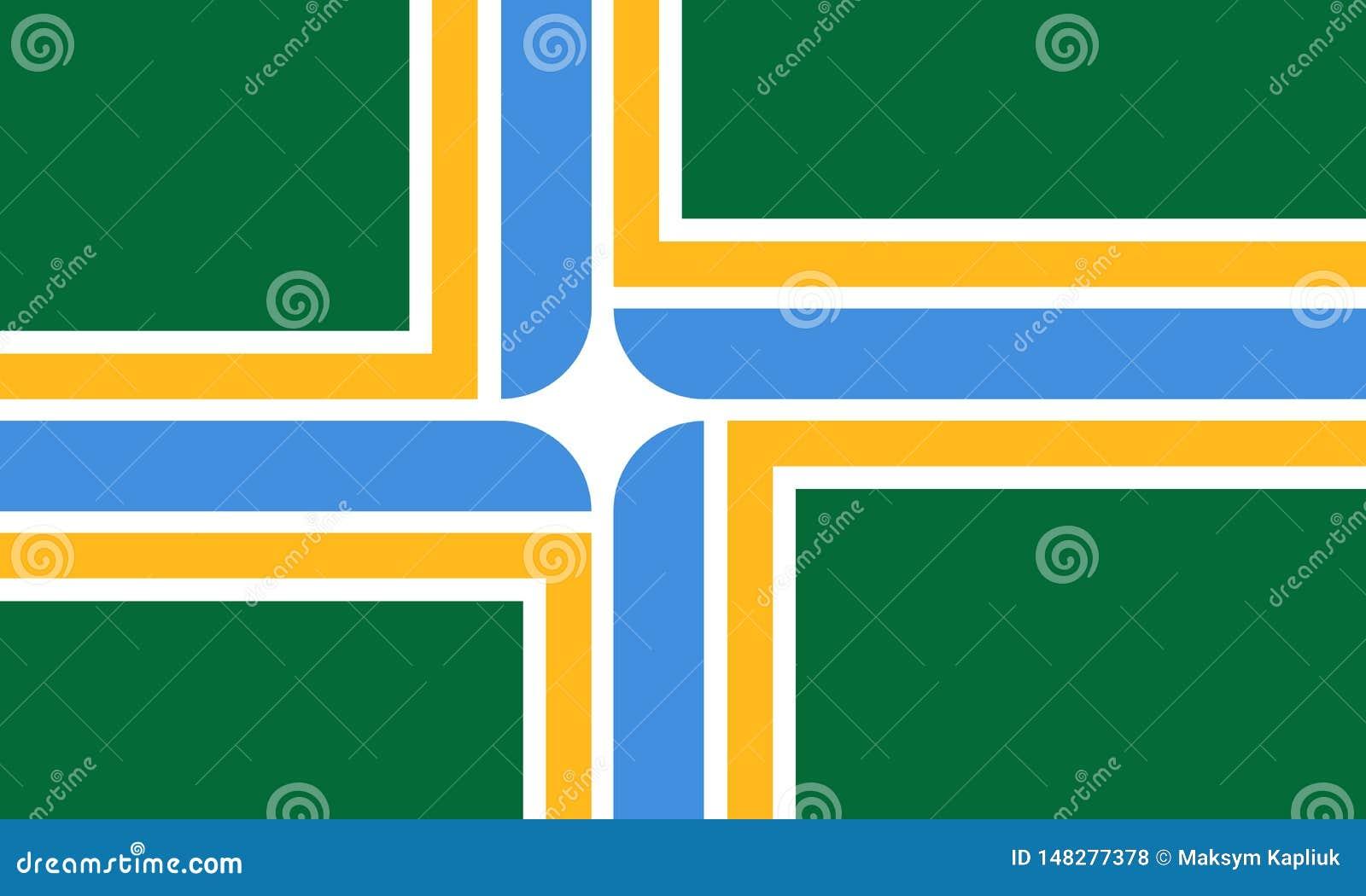 Flag Of Portland, State Oregon. United States Of America ...