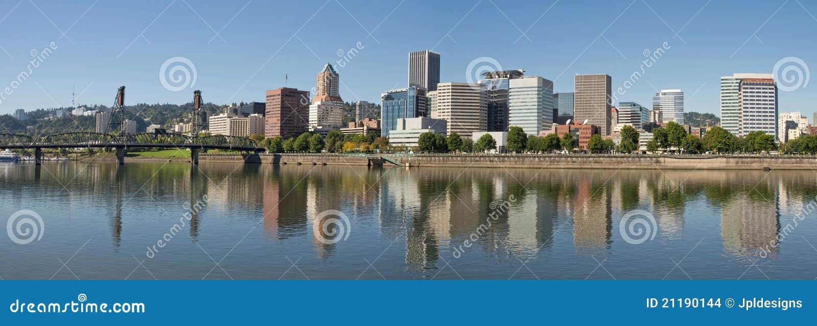 Portland Downtown Waterfront Skyline Panorama