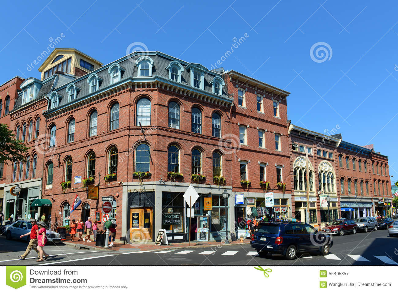 Portland fore street at old port maine usa editorial for Cost to build a house in maine