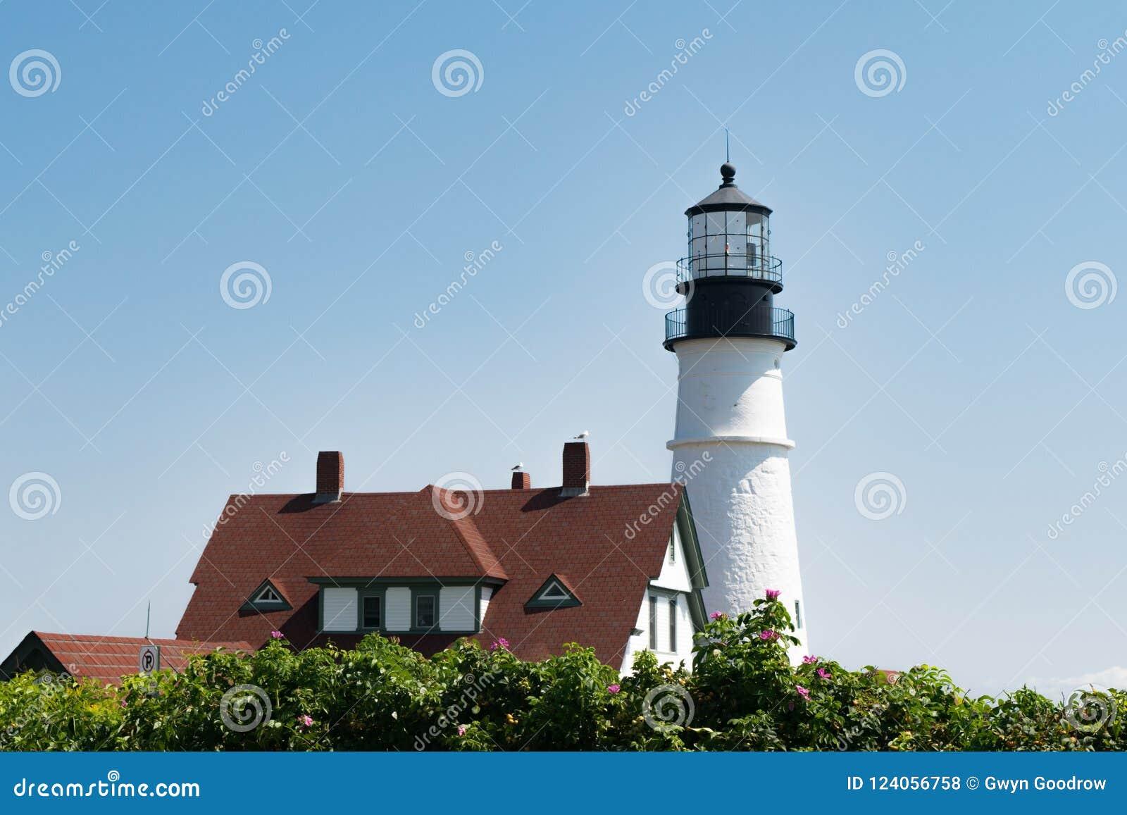 Portland głowy latarnia morska, Portlandzki Maine, usa