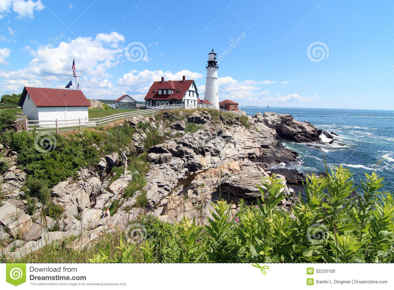 Portland head light royalty free stock images image for Free land maine