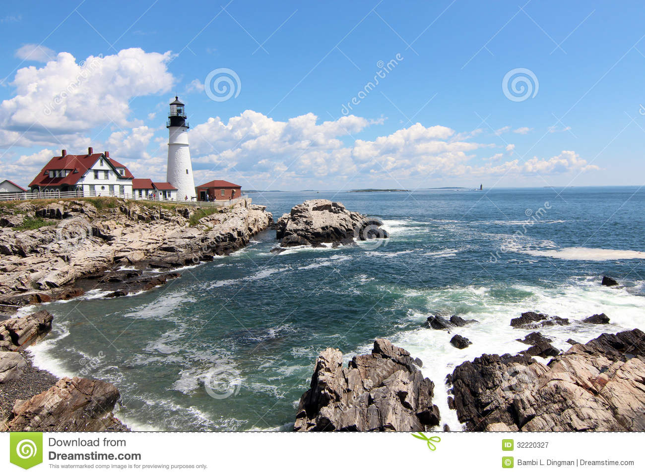 Portland head light royalty free stock photography image for Free land maine